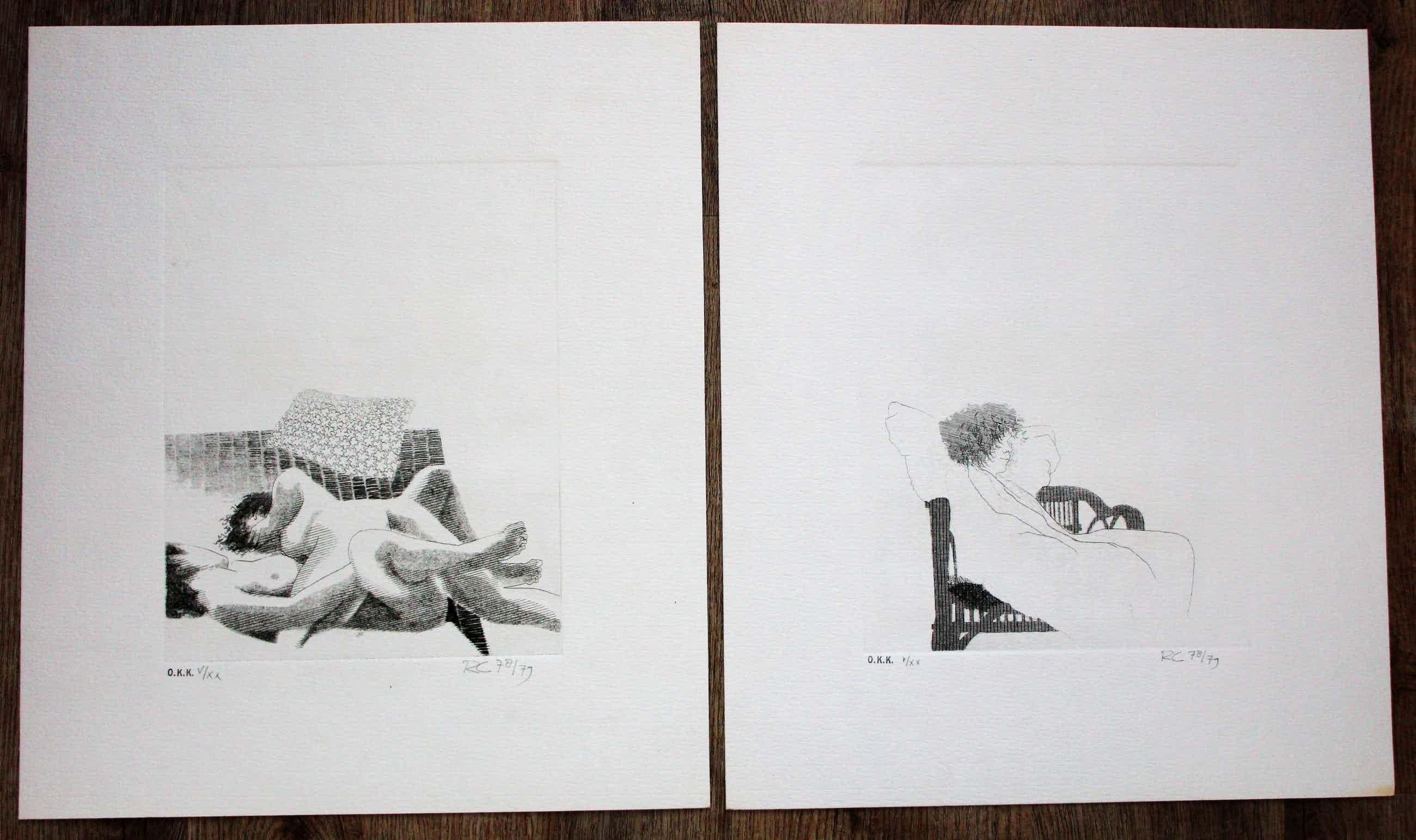 Rob Cox - 2 etsen - grafiek erotiek 1978/1979 kopen? Bied vanaf 70!