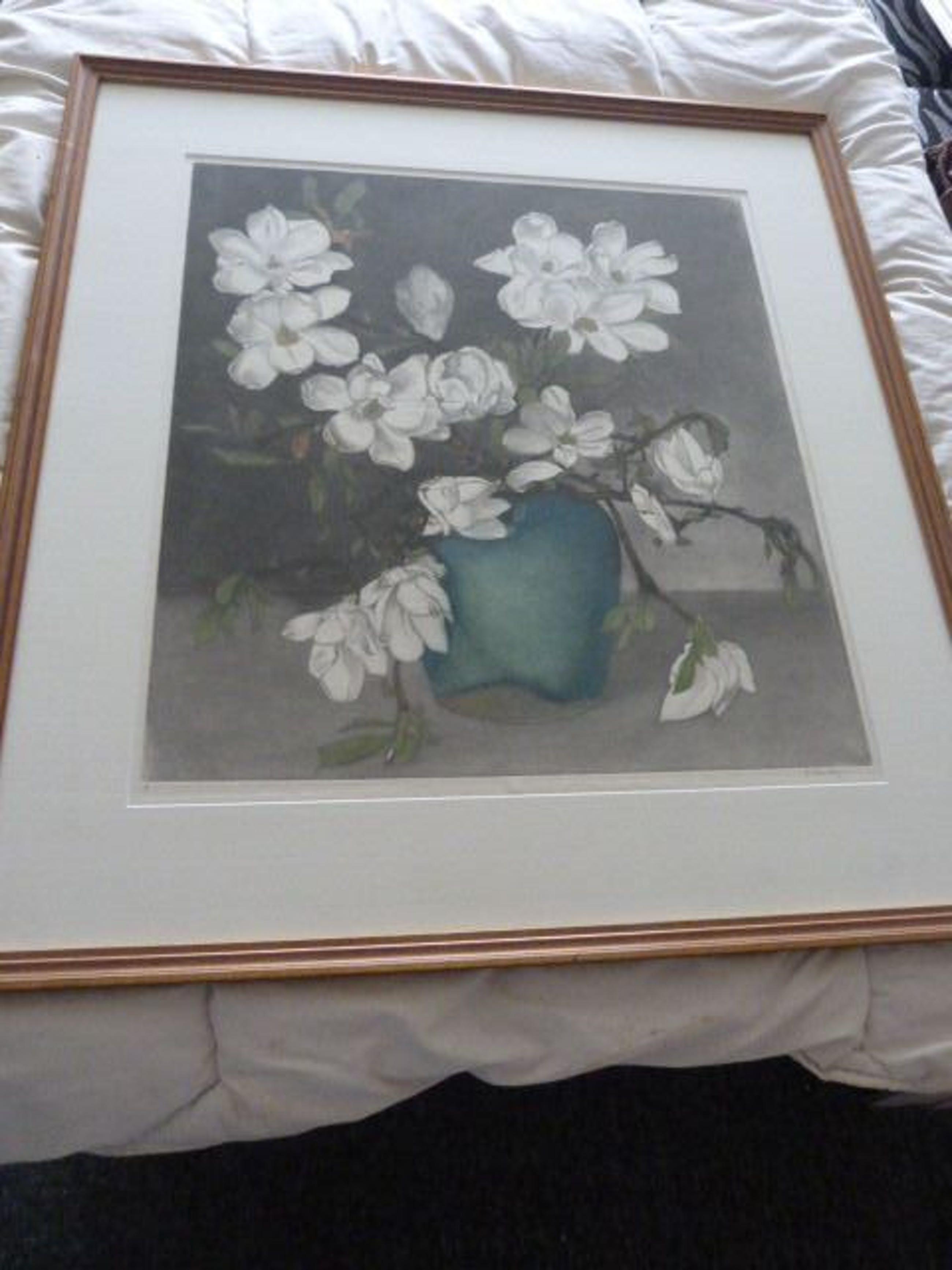 Frans Everbag - Magnolia's in groene gemberpot. kopen? Bied vanaf 145!