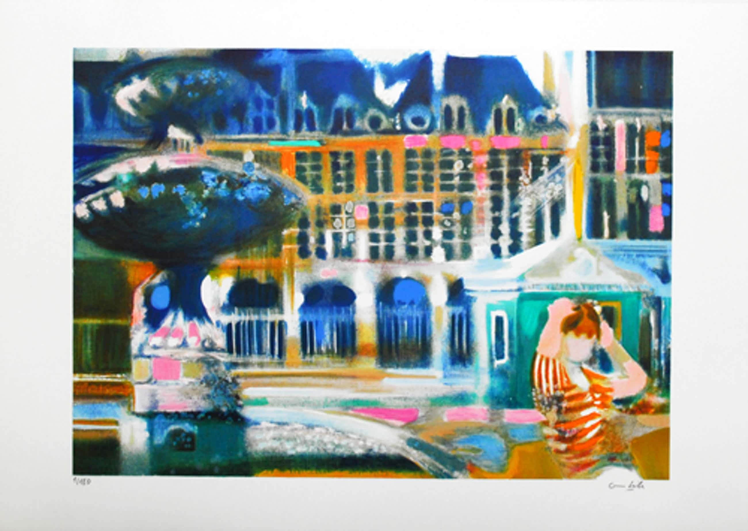 Paul Ambille - Handgesigneerde lithografie: Paris - Place des Vosges kopen? Bied vanaf 45!