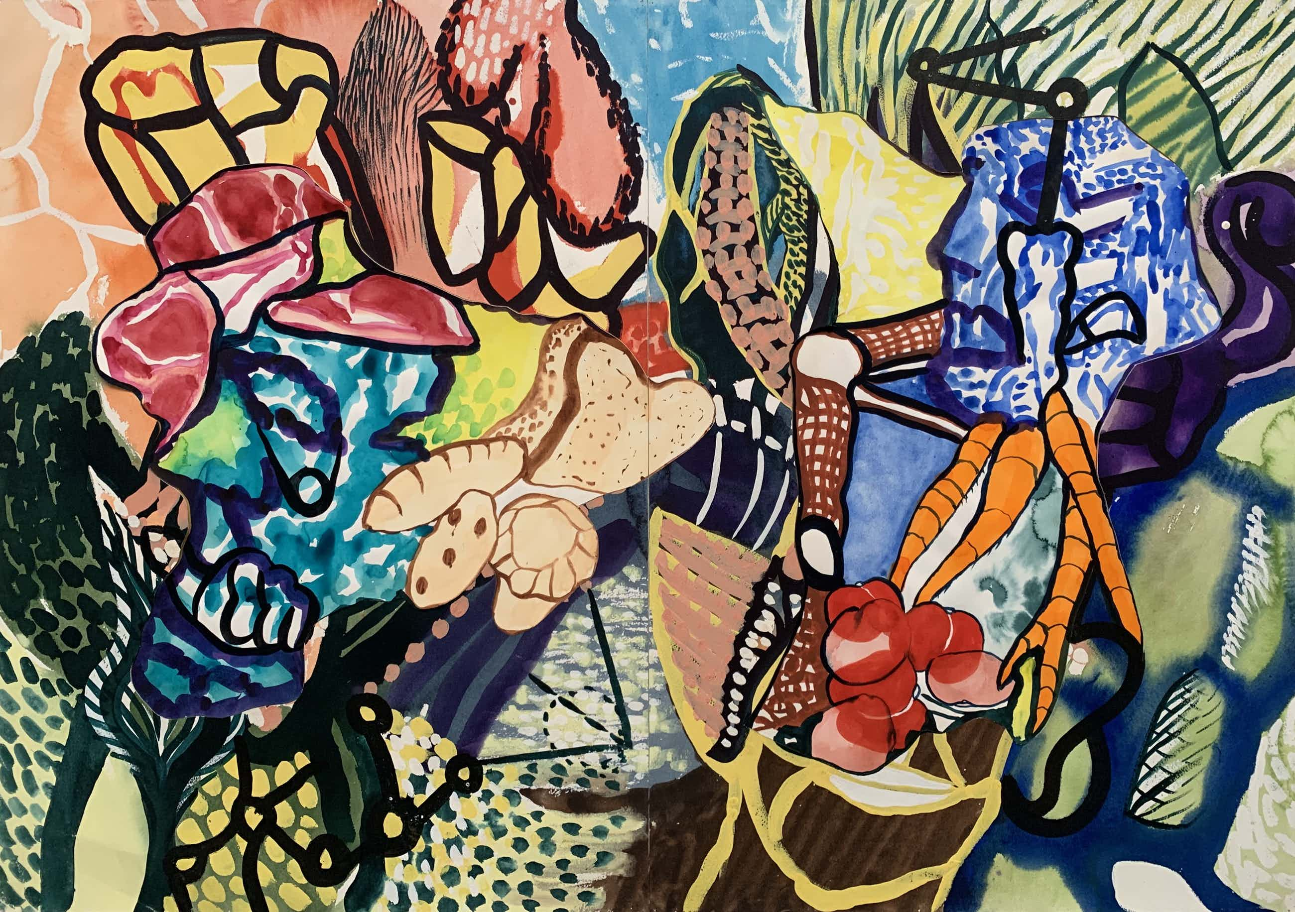 Thomas van der Linden - Collage op papier   'The Shifting of Horizons'   1989 kopen? Bied vanaf 250!