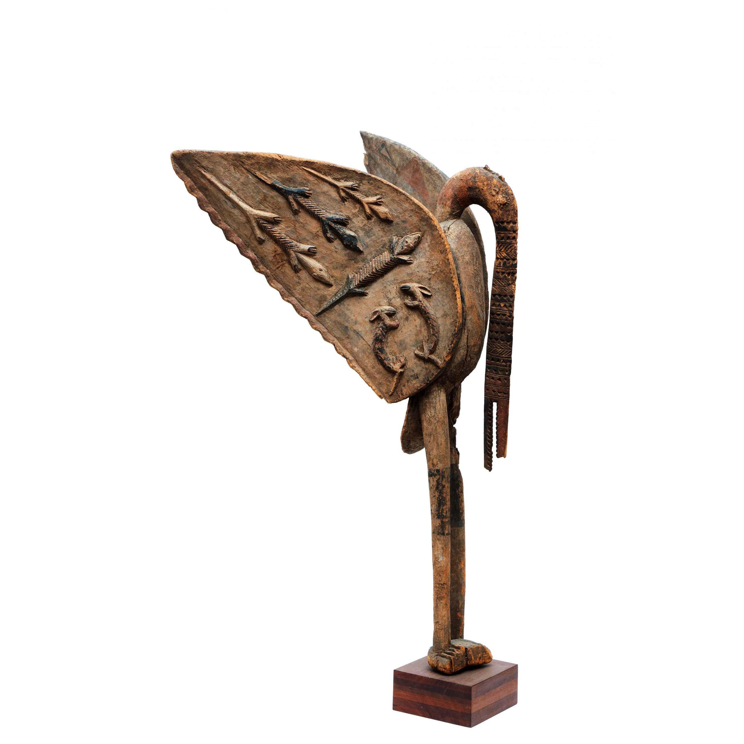 """Senufo - Kapitaal Houten Beeld """"Hornbill"""" / Neushoornvogel kopen? Bied vanaf 750!"""