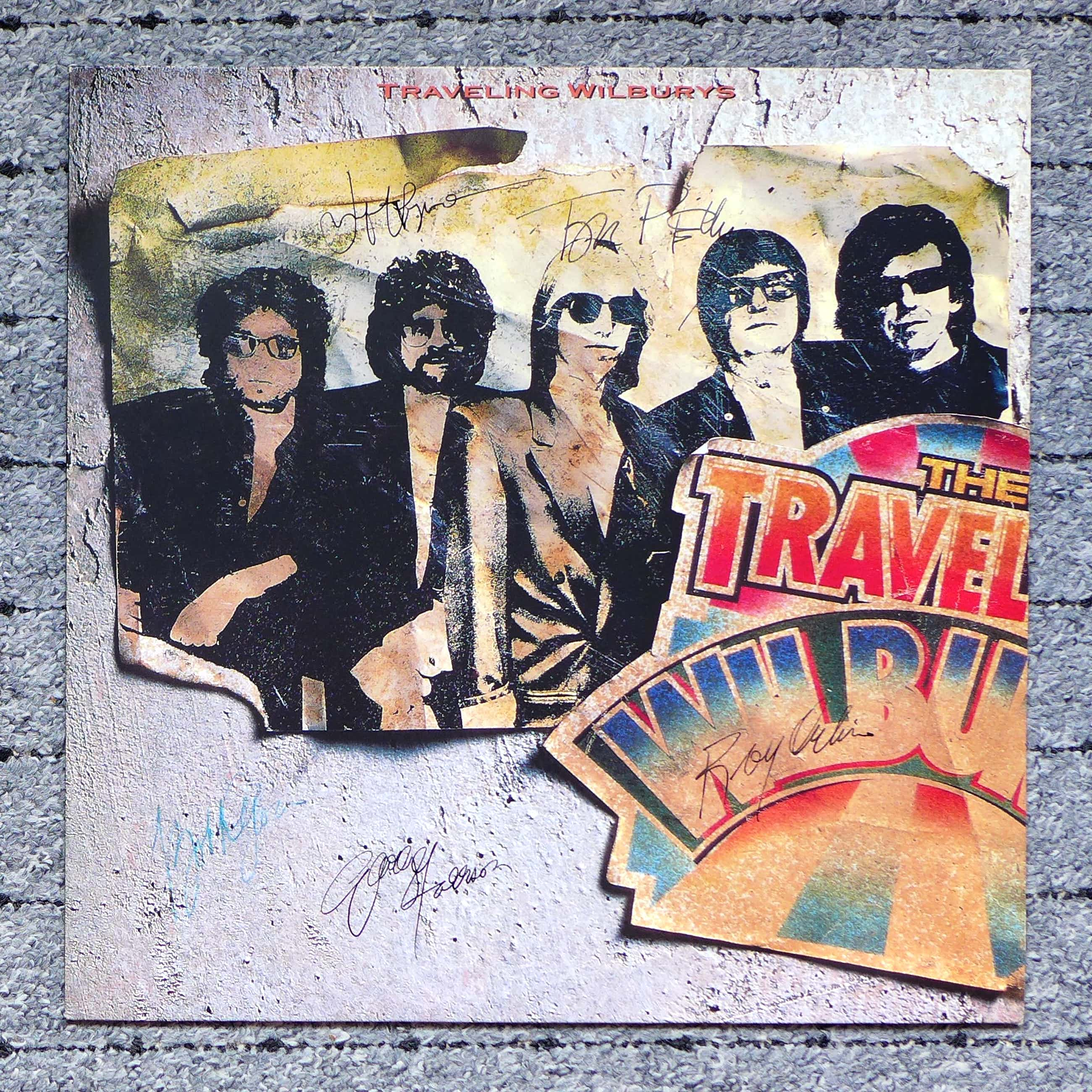 George Harrison - Traveling Wilburys, LP signiert von Harrison, Orbison, Petty, Lynne, Dylan kopen? Bied vanaf 99!