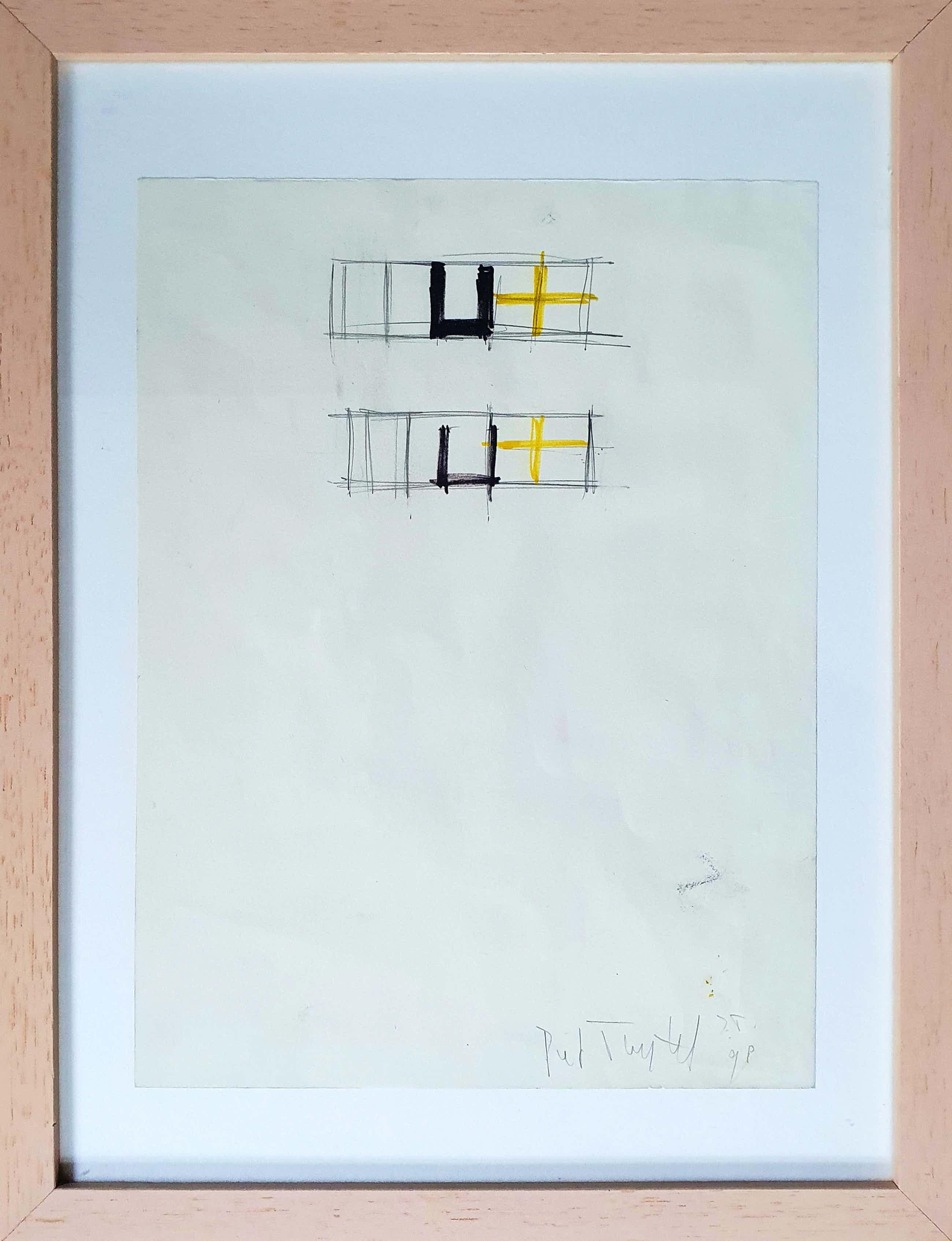 Piet Tuytel - Tekenig - 1998 (Ingelijst) kopen? Bied vanaf 125!