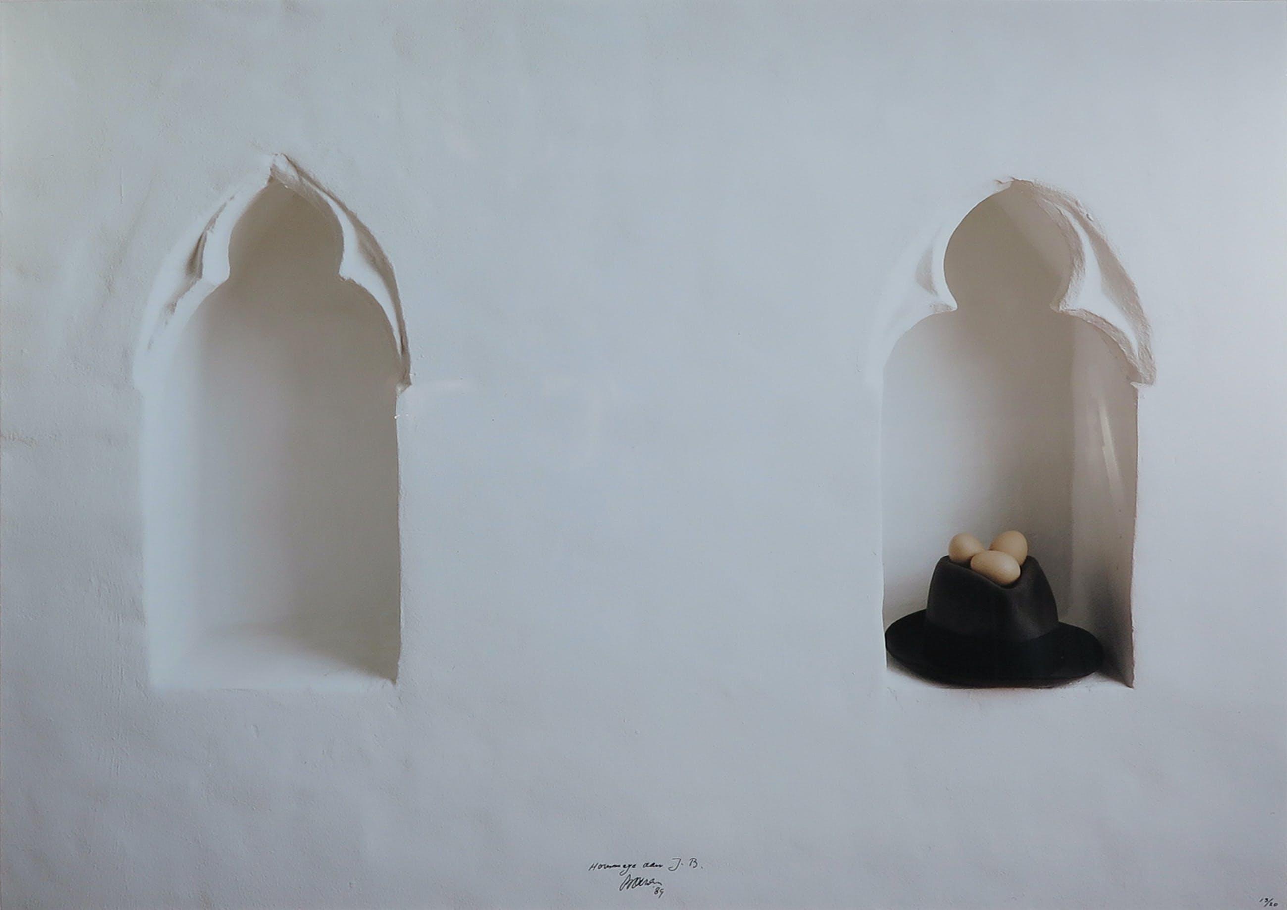 Marinus Boezem - Foto, Hommage aan Joseph Beuys - Ingelijst kopen? Bied vanaf 1!