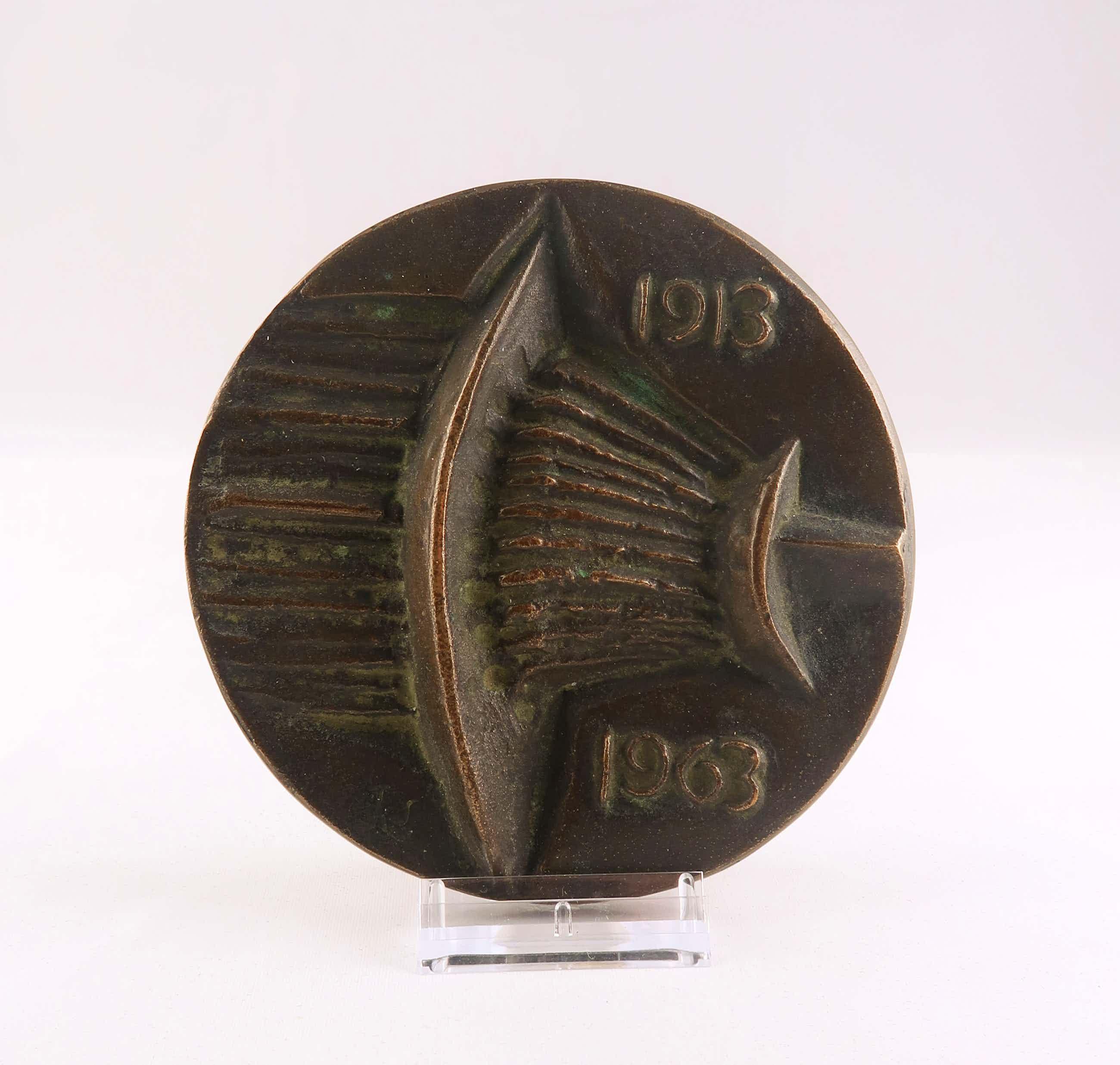 Jan Snoeck - Bronzen penning, NKF 1913 - 1963 kopen? Bied vanaf 50!