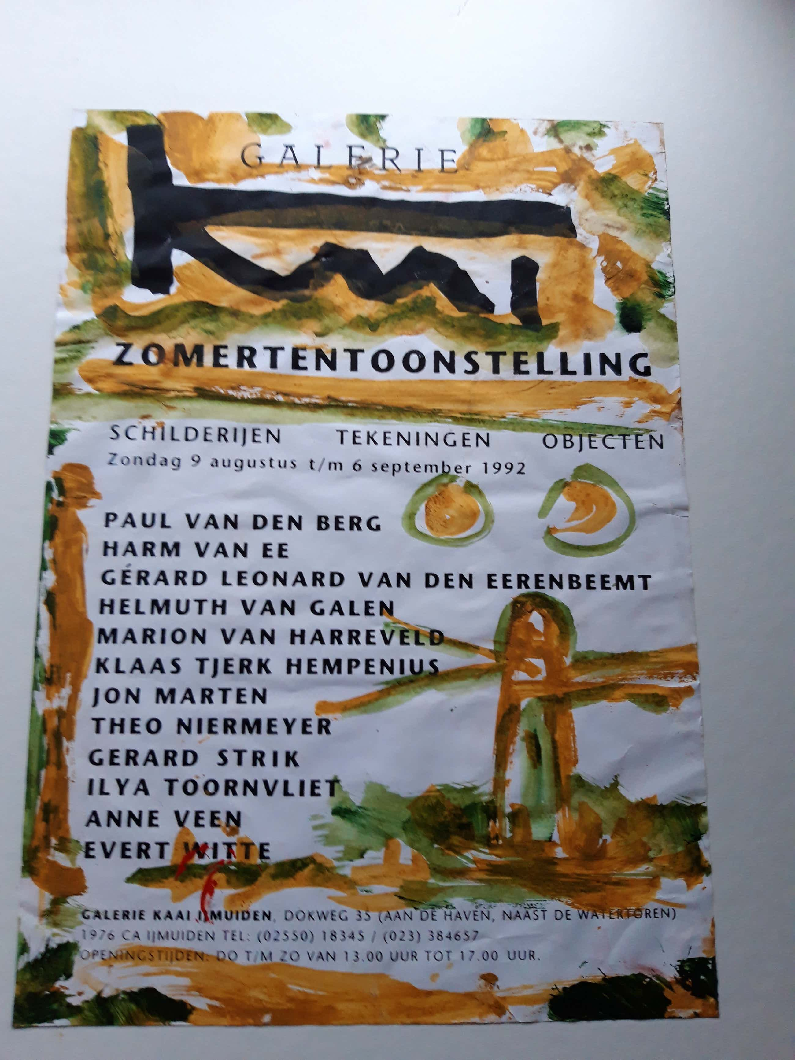 Theo Niermeijer - beschilderd affiche galerie Kaai kopen? Bied vanaf 50!