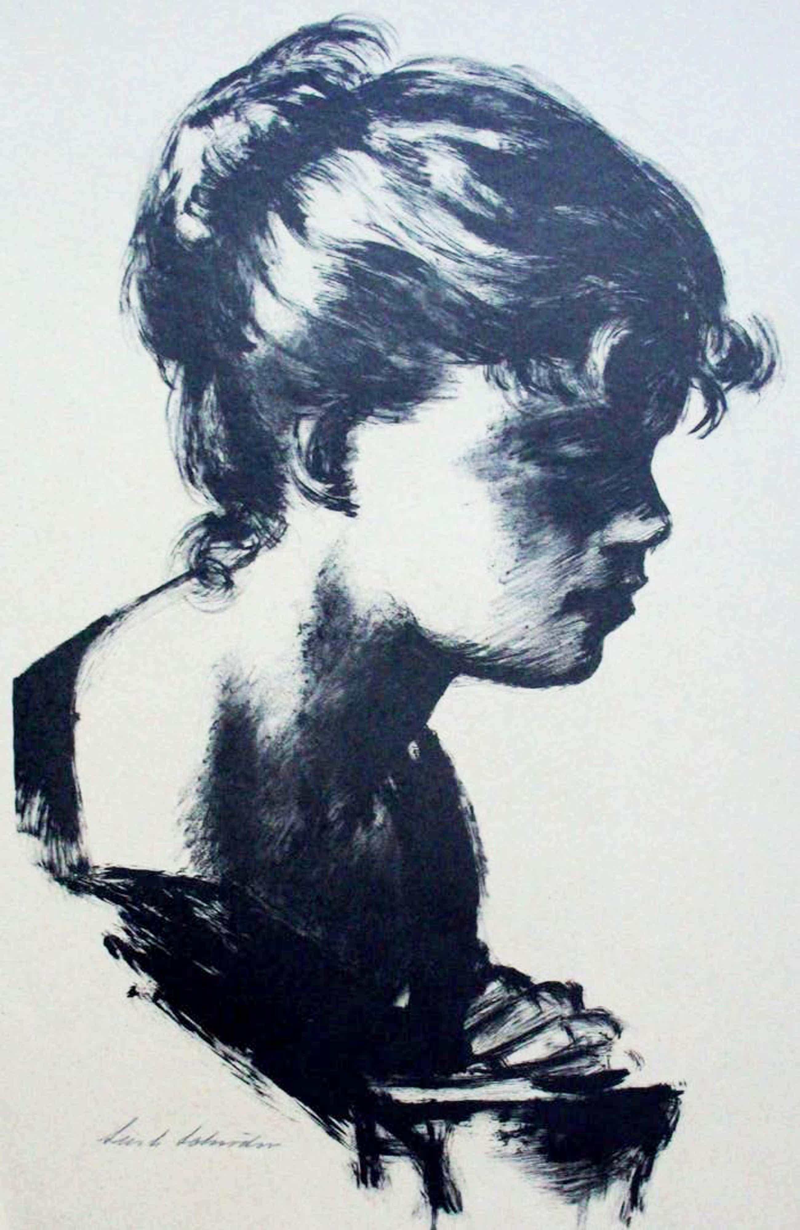Sierk Schroder - Litho: Portret kopen? Bied vanaf 50!