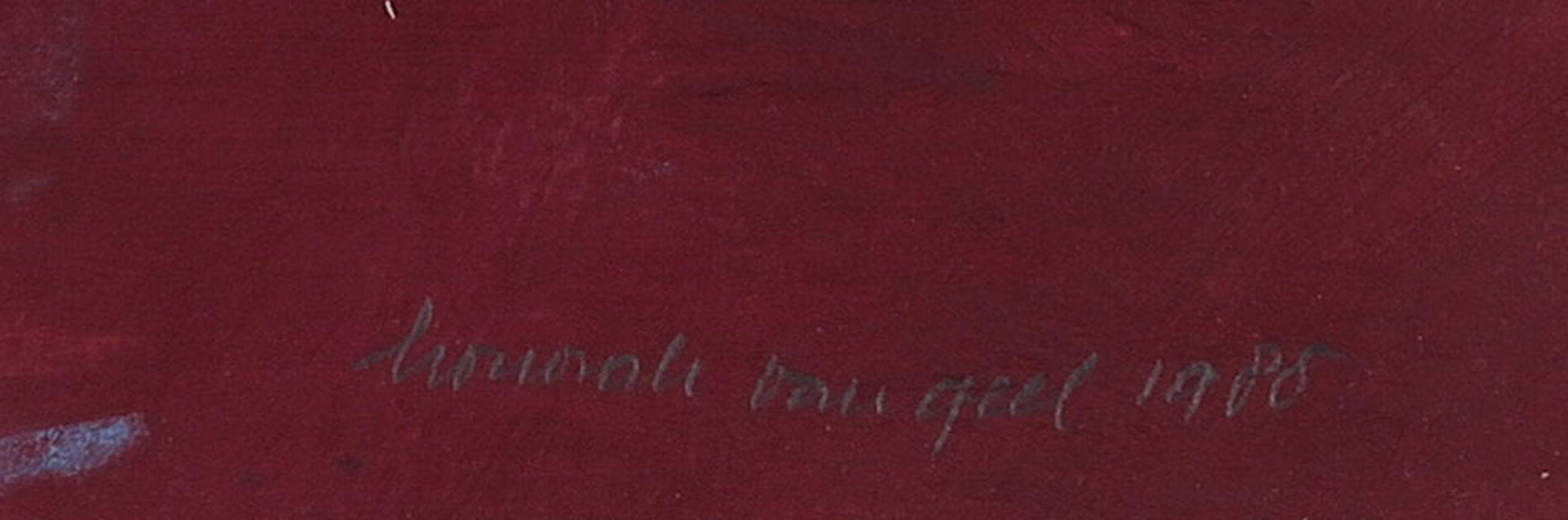 Honorah van Geel - Collage en acryl op papier, Zonder enige zekerheid kopen? Bied vanaf 1!