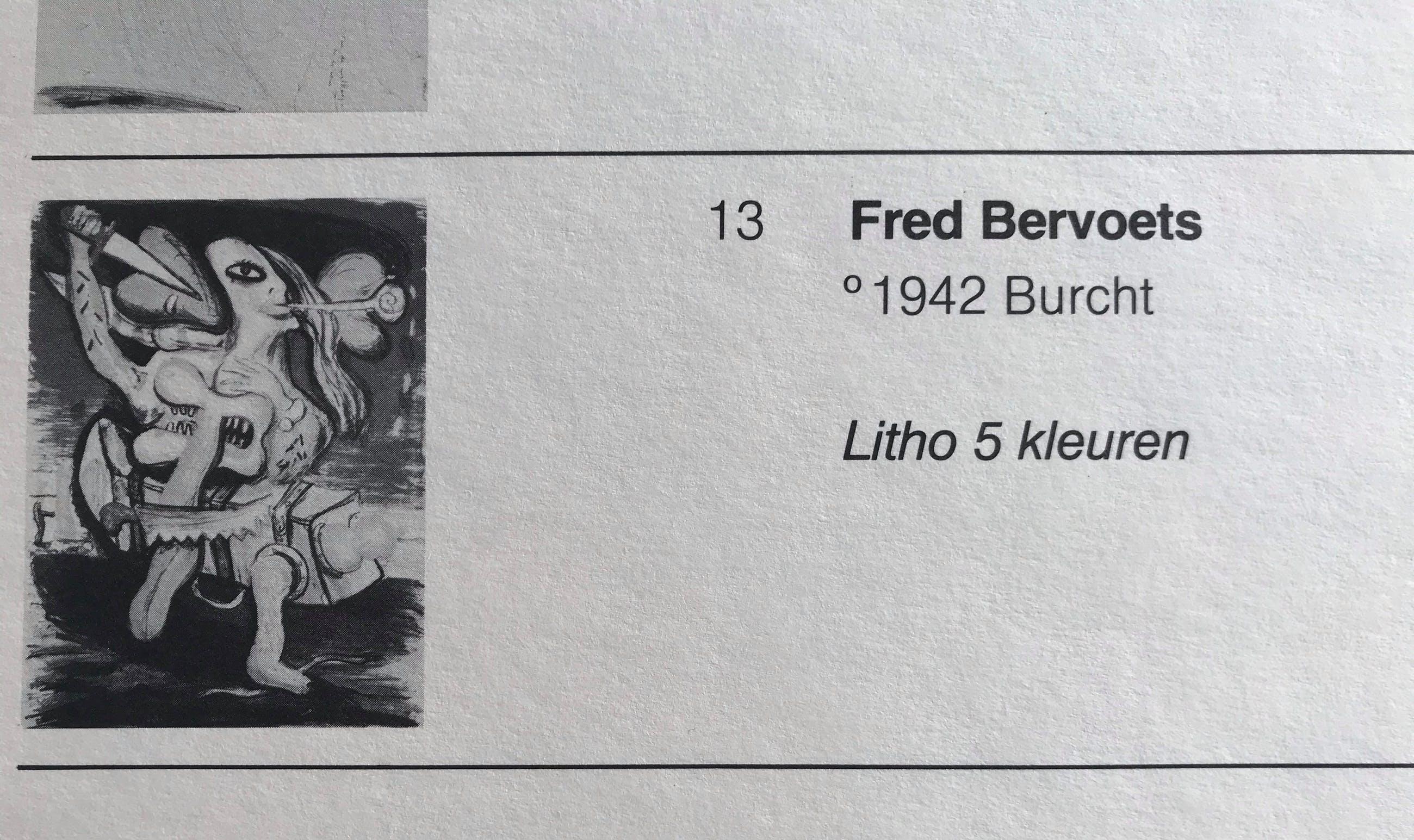 Fred Bervoets - Prachtige litho - Zelden aangeboden! - 1978 - 105/150 kopen? Bied vanaf 245!