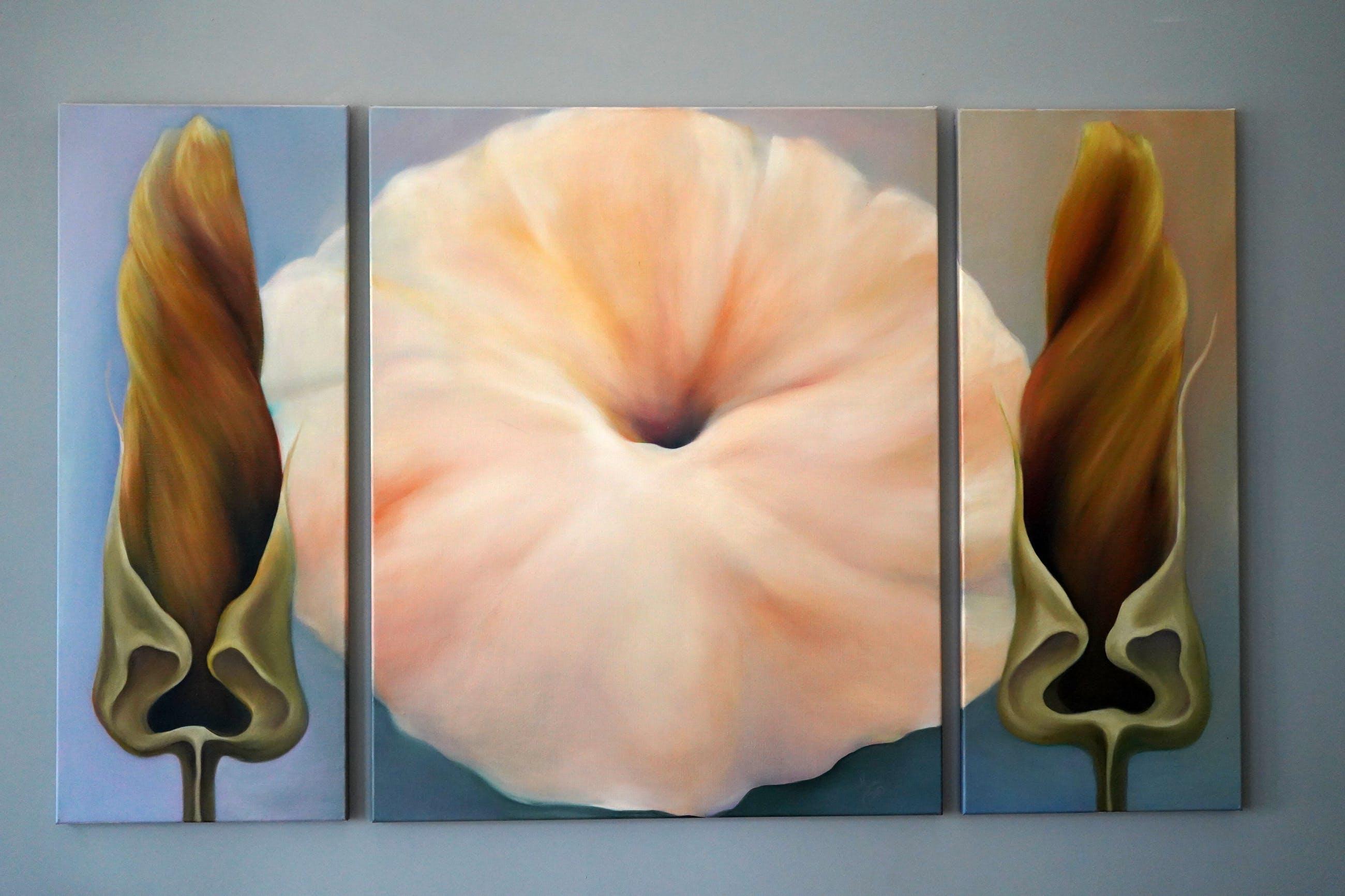 Jona Blom - 3-luik bloem kopen? Bied vanaf 500!