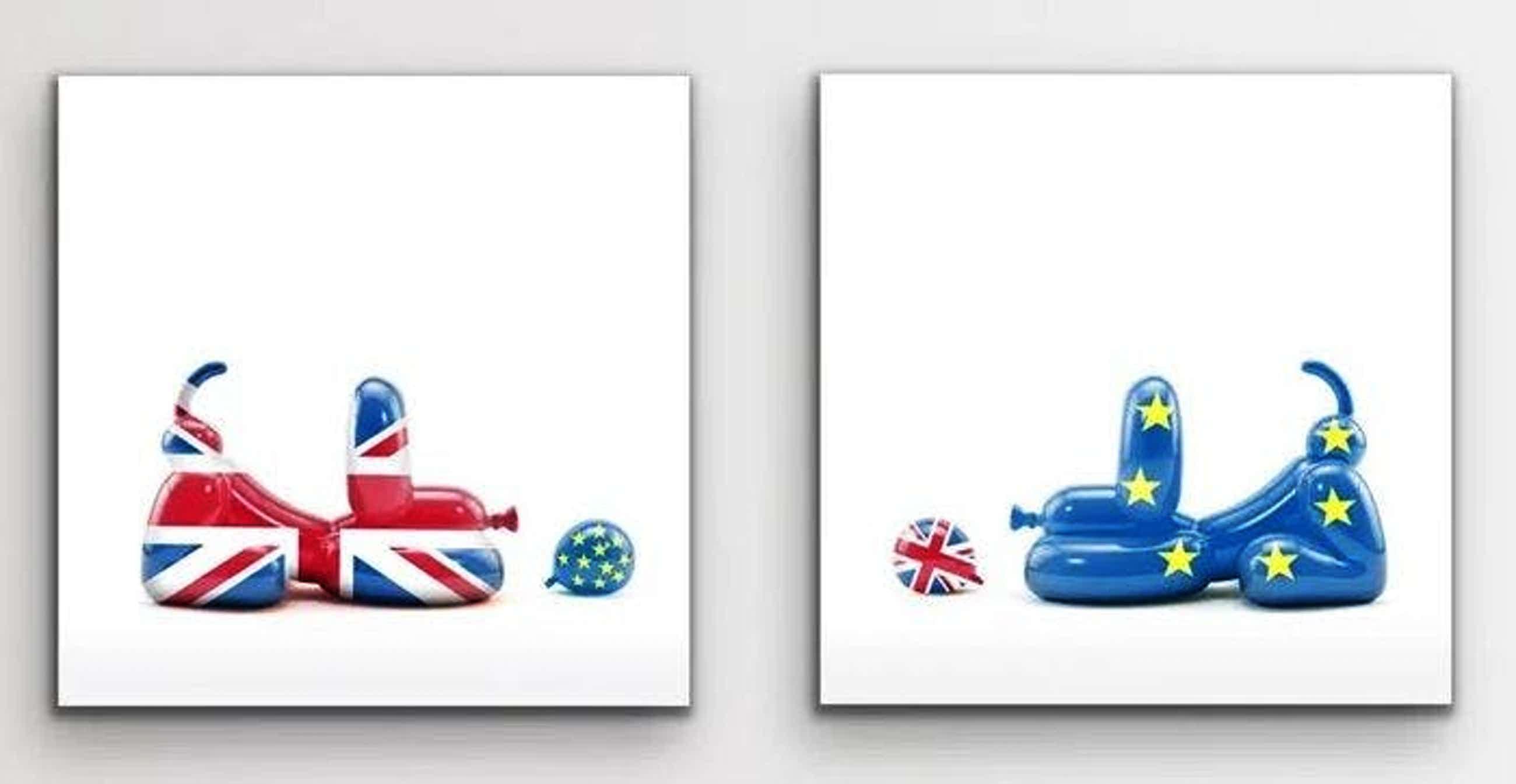 WHATSHISNAME - Whatshisname (1982) - Brexit Happy POPek Balloon Dog set of two prints kopen? Bied vanaf 200!