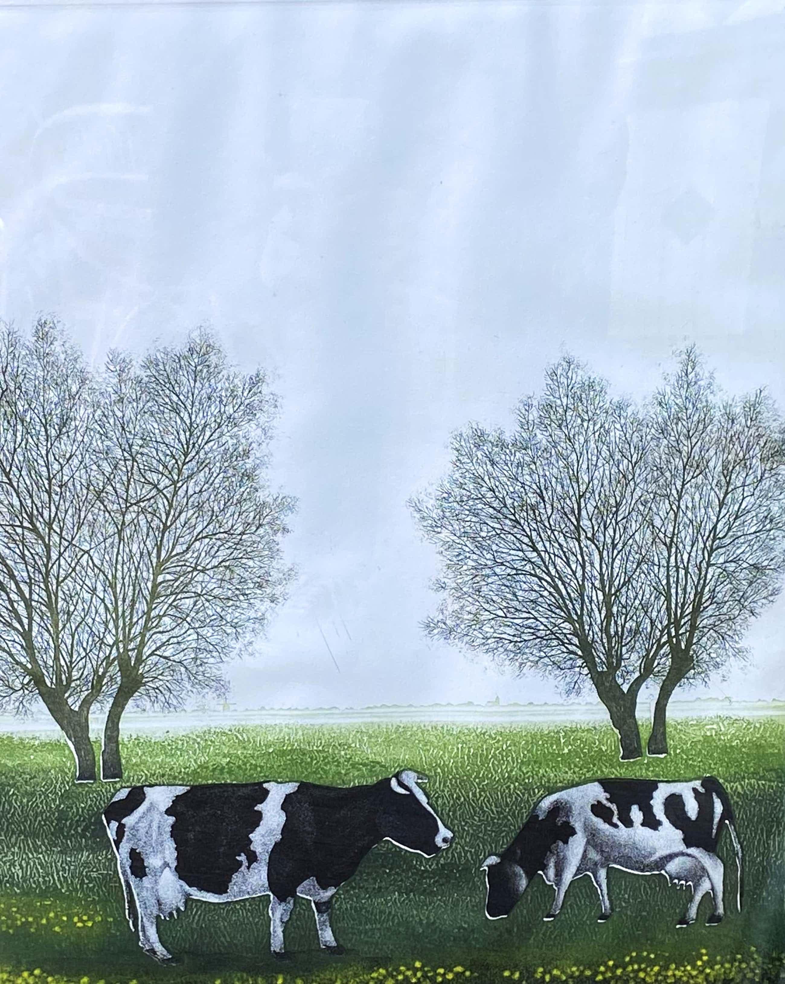Hans Heijman - C5073-2, Holland, gras, polders tot aan de horizon kopen? Bied vanaf 125!
