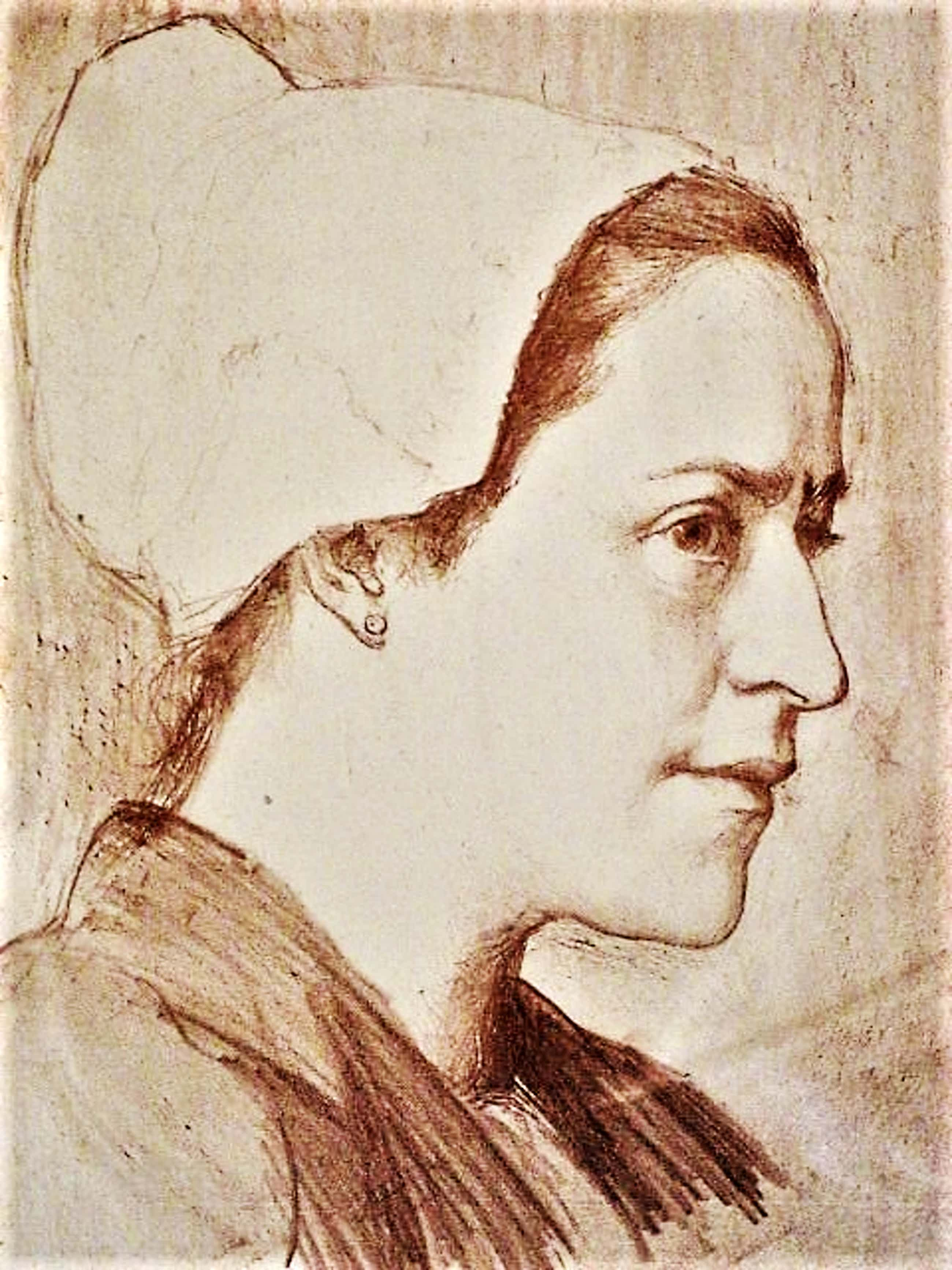 Leo Klein-Von Diepold - Omstreeks 1900 - Handgekleurde Litho - Vrouw met kapje kopen? Bied vanaf 30!