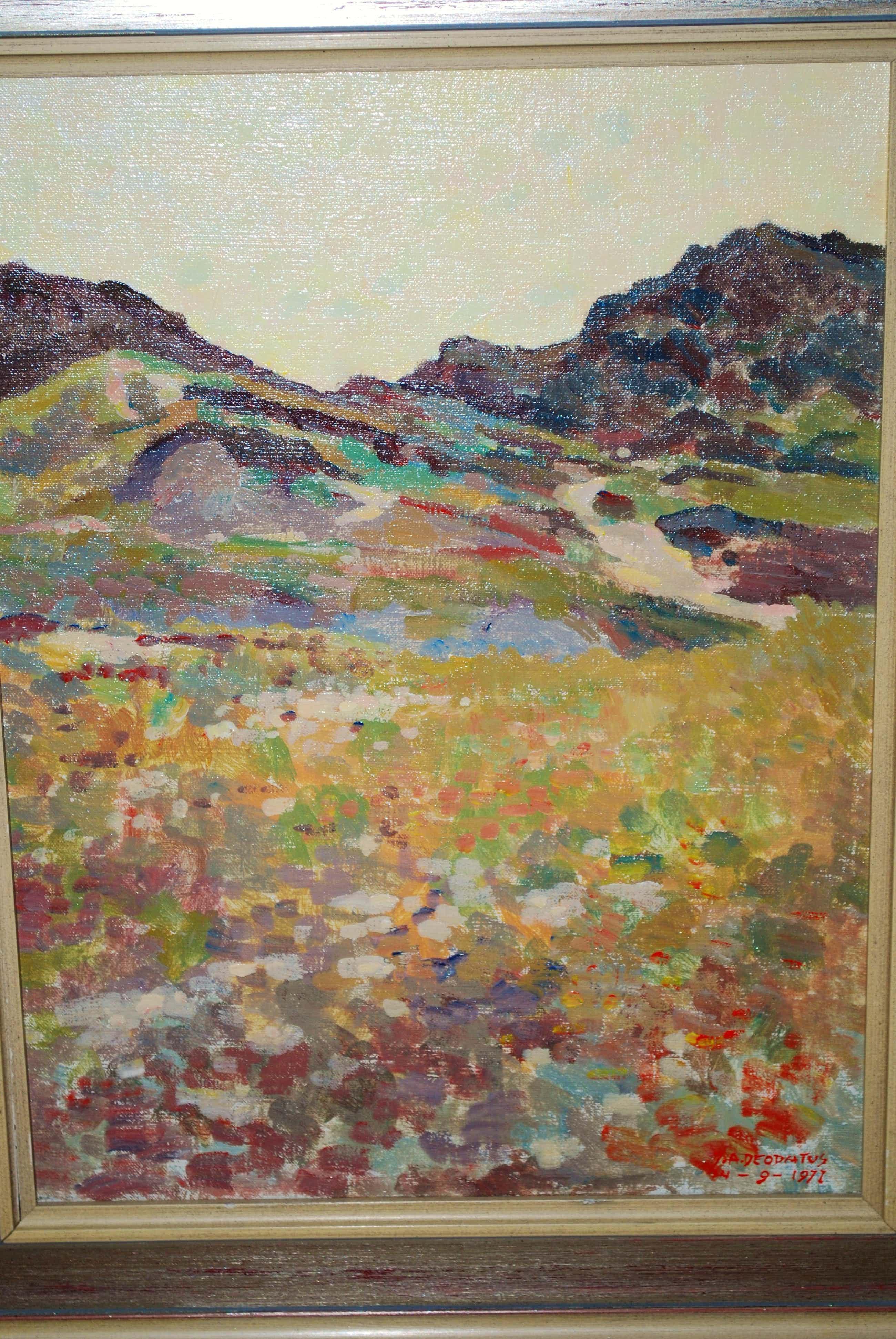 Jan Deodatus - Terschelling landschap - acryl op doek 1971 kopen? Bied vanaf 110!