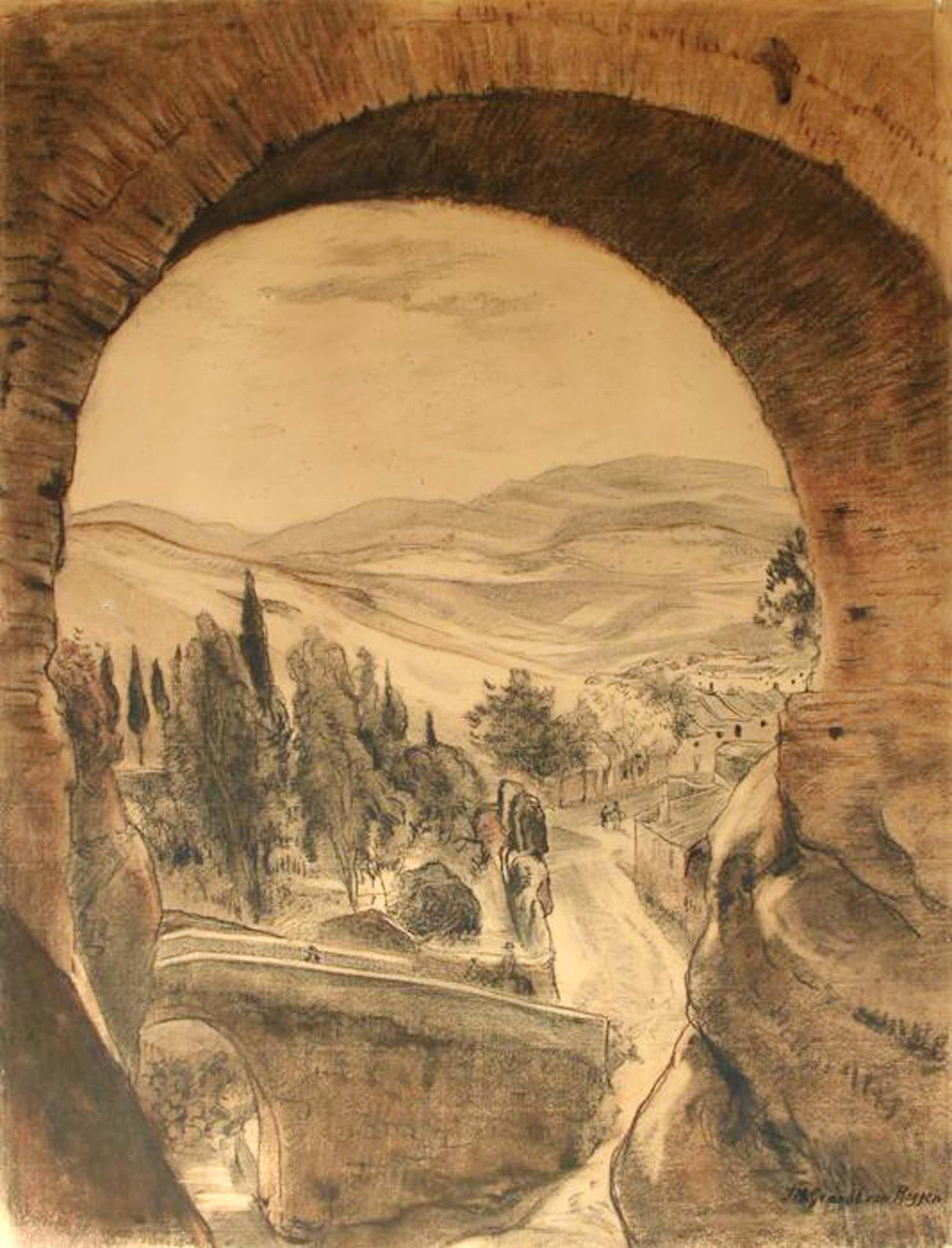 Johannes Graadt van Roggen - (1867-1959) - Puentes Romano y Arabe bij Ronda (Malaga, Andalusië) kopen? Bied vanaf 99!