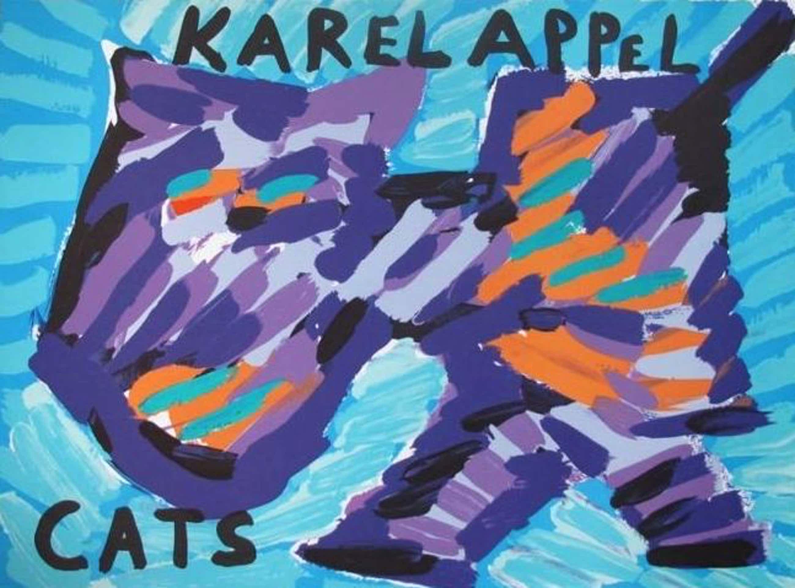 Karel Appel - Kleurenlitho HAPPY CAT kopen? Bied vanaf 125!
