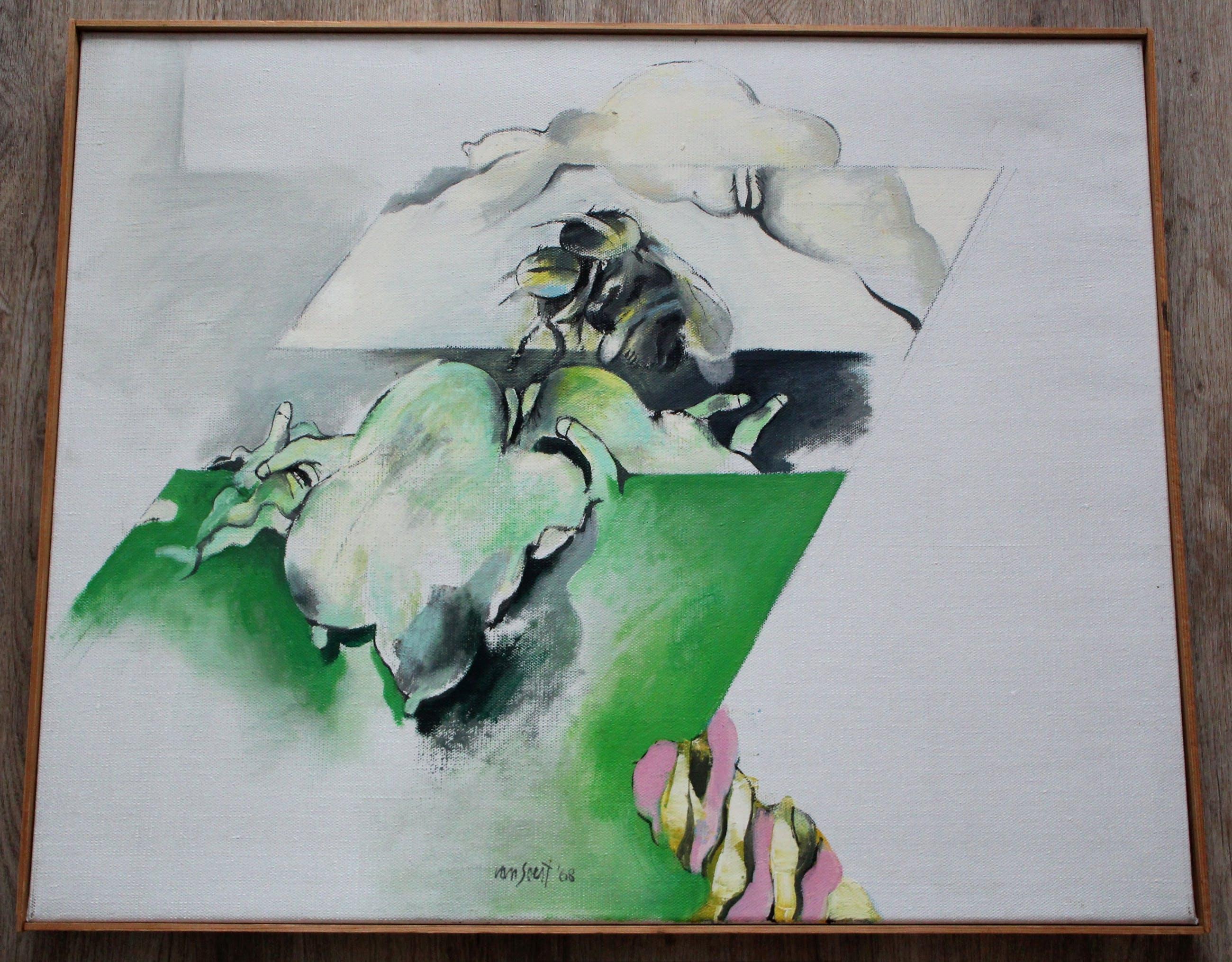 Pierre van Soest - Olieverf op doek: Insekten II - 1968 kopen? Bied vanaf 995!