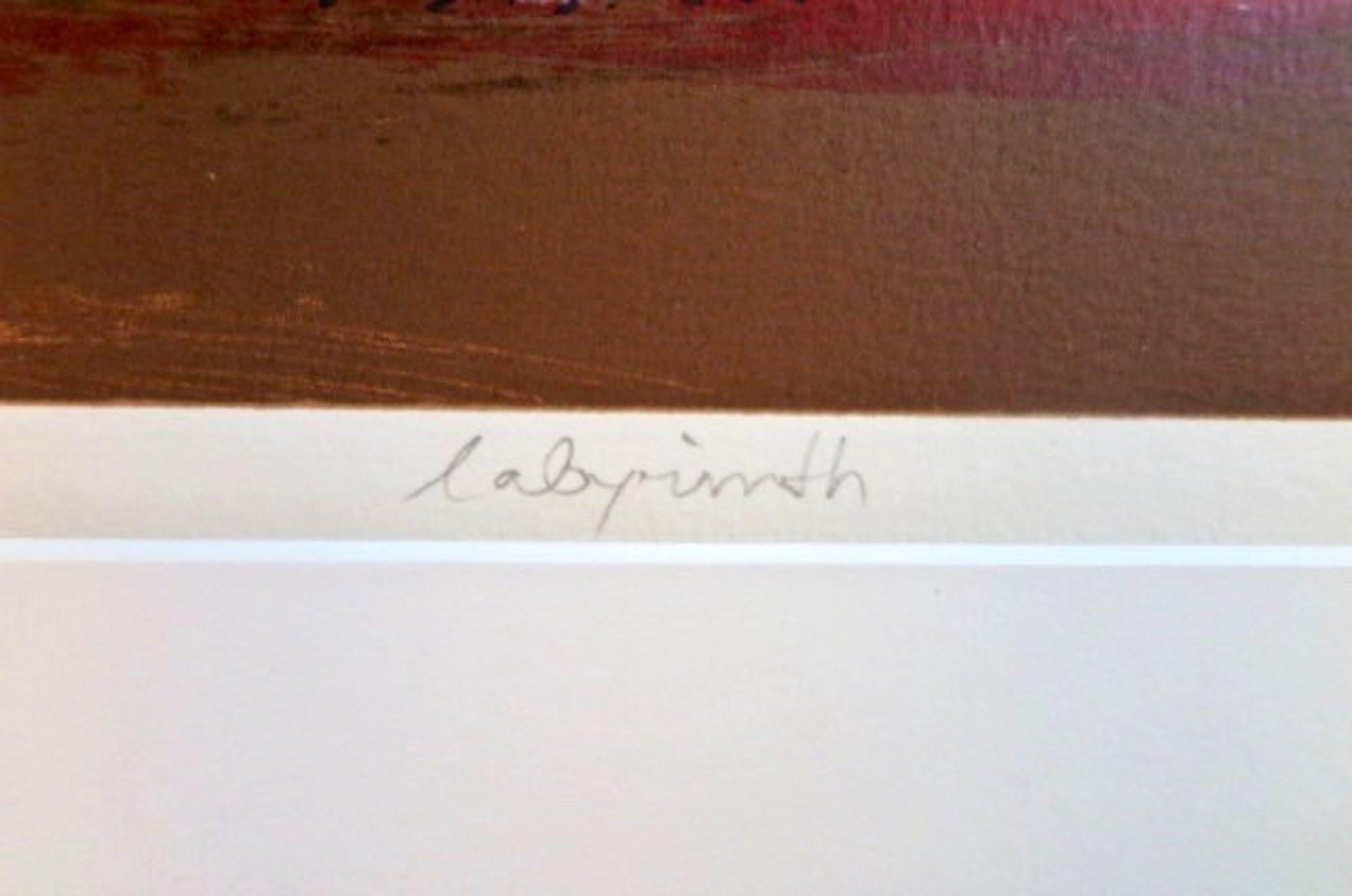 Hans Vanhorck - Labyrinth - Groot - Professioneel passe-partout - Originele galerieprijs F 1800, kopen? Bied vanaf 1!