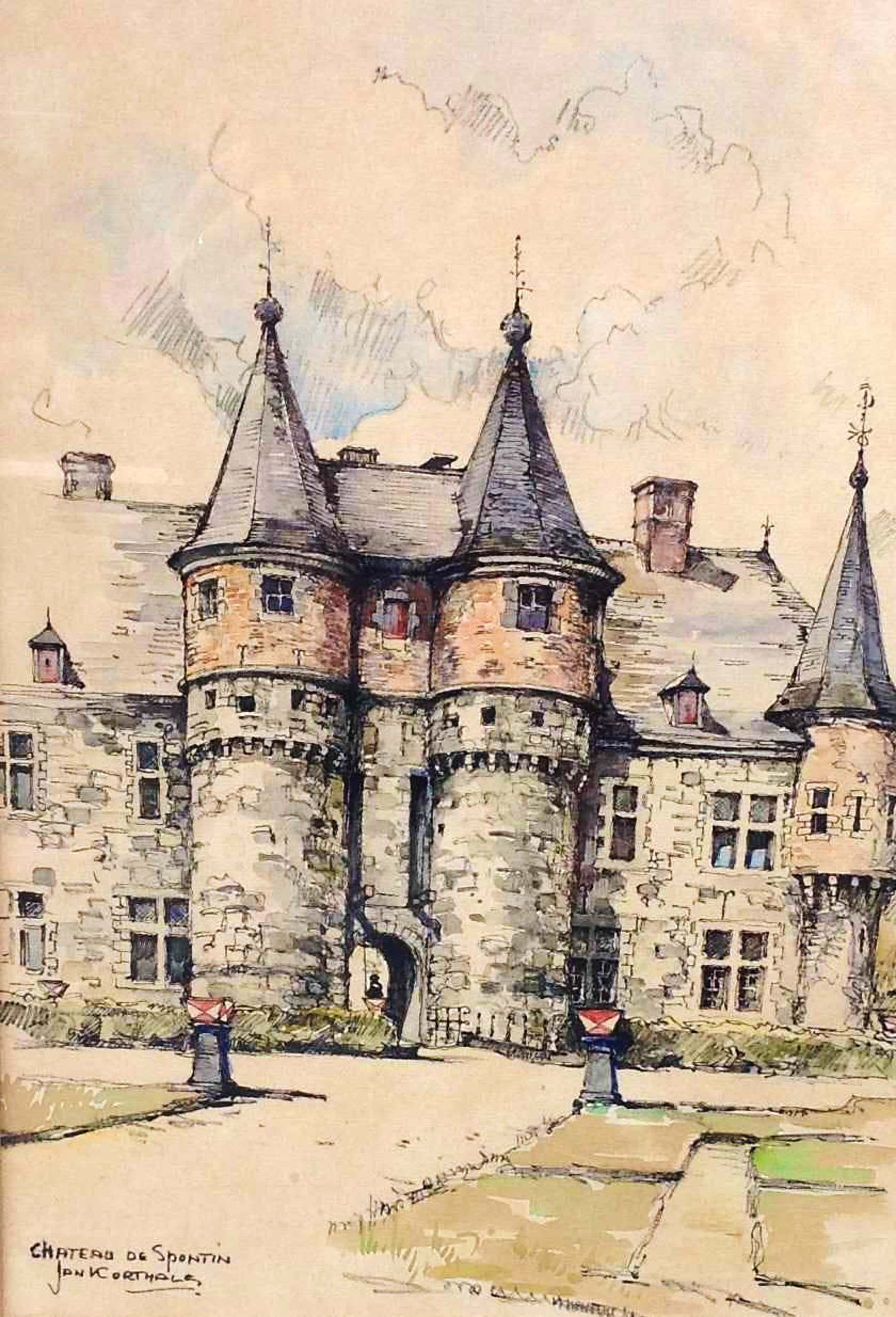 Jan Korthals - Chateau de Spontin kopen? Bied vanaf 100!