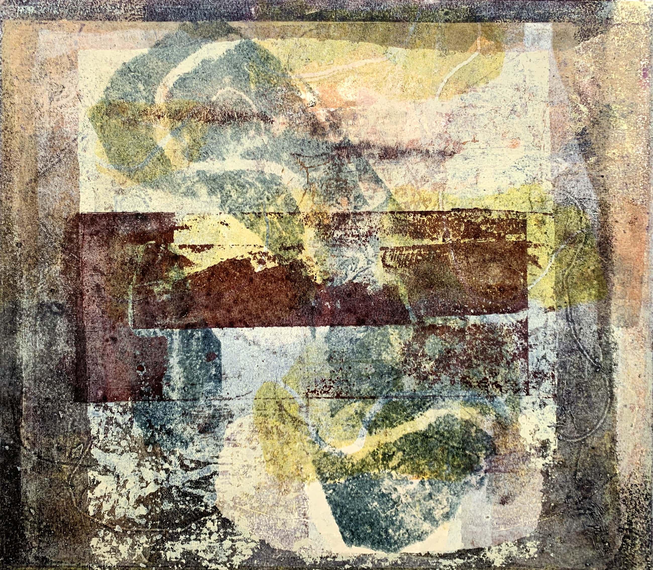 Thea Figee - monotype op papier - zonder titel - 1992 (UNIEK WERK) kopen? Bied vanaf 60!