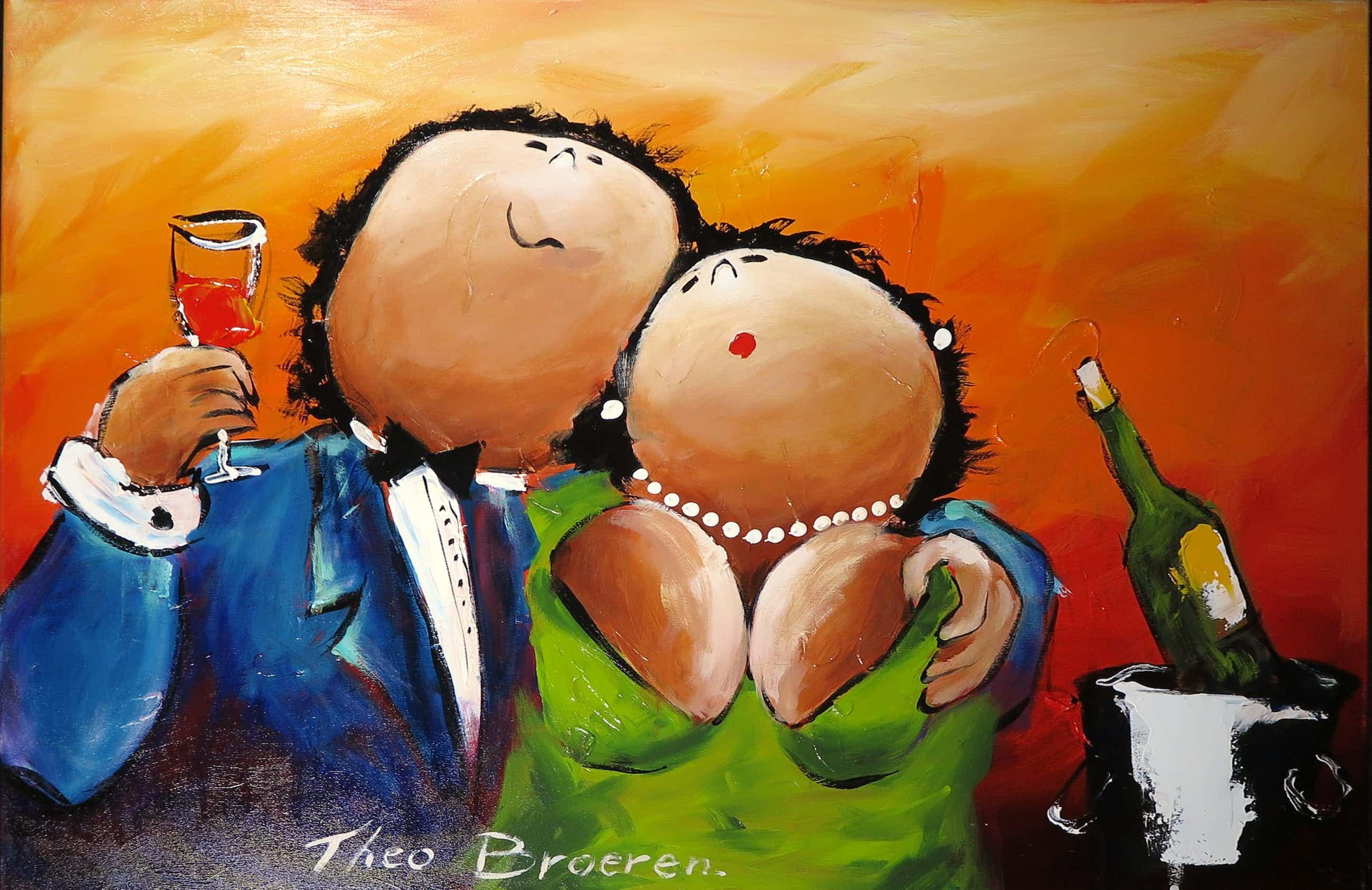 Theo Broeren - Schilderij Acryl op doek TOEN IK JOU ZAG Handgesigneerd. kopen? Bied vanaf 175!