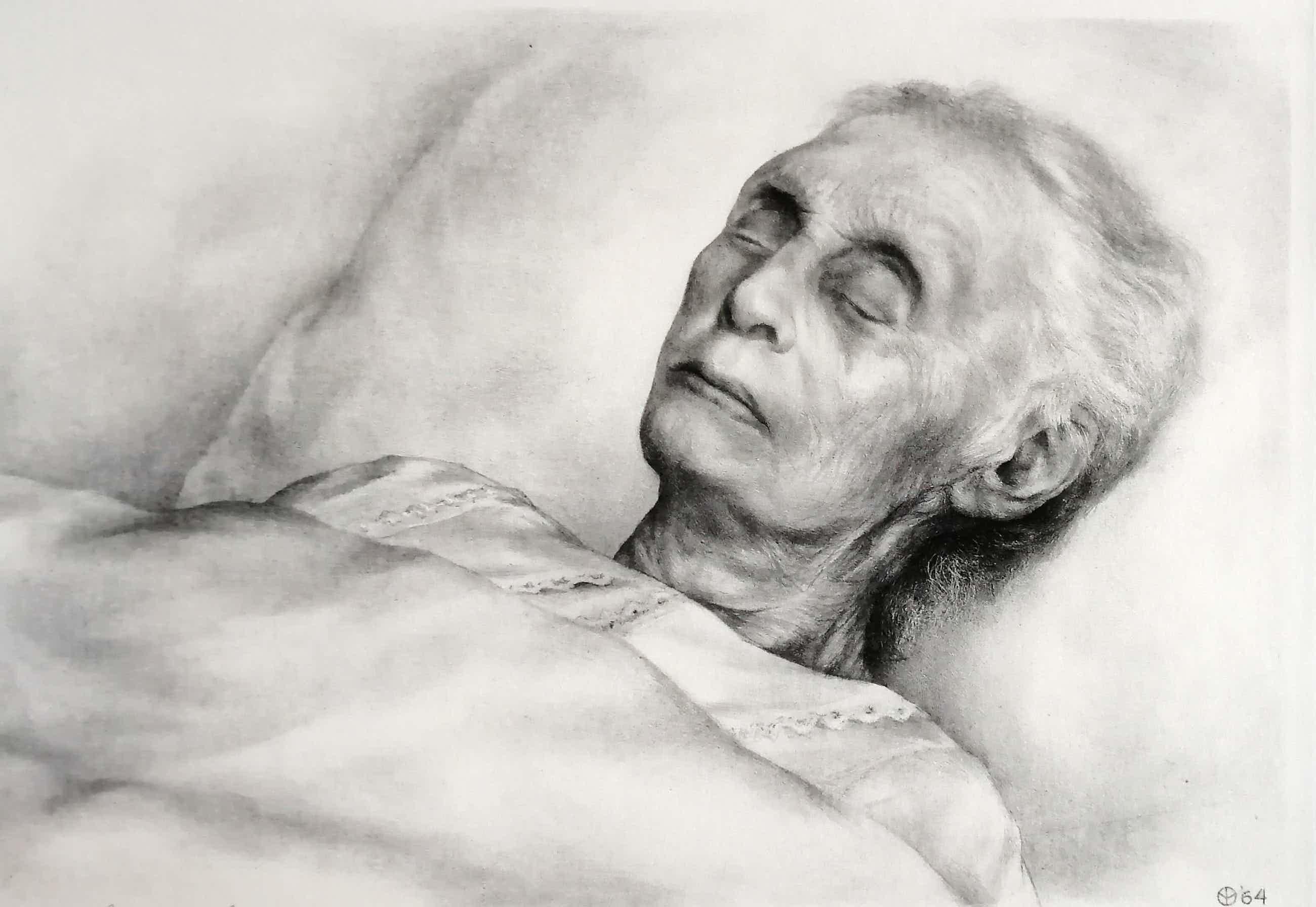 Aart van Dobbenburgh - Mijn moeder op haar doodsbed - 15e portret kopen? Bied vanaf 126!