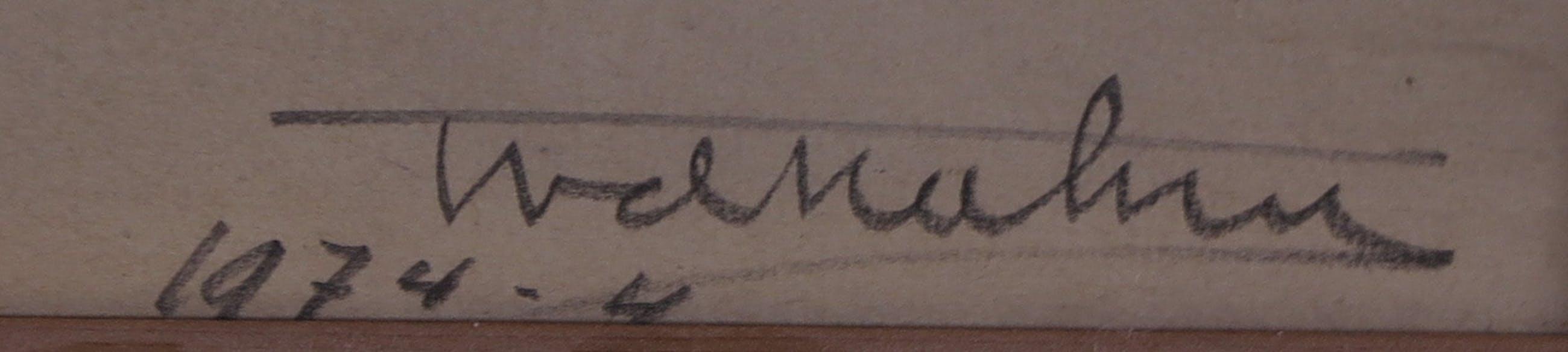 Theo van der Nahmer - Houtskool op papier, Silhouet - Ingelijst kopen? Bied vanaf 35!