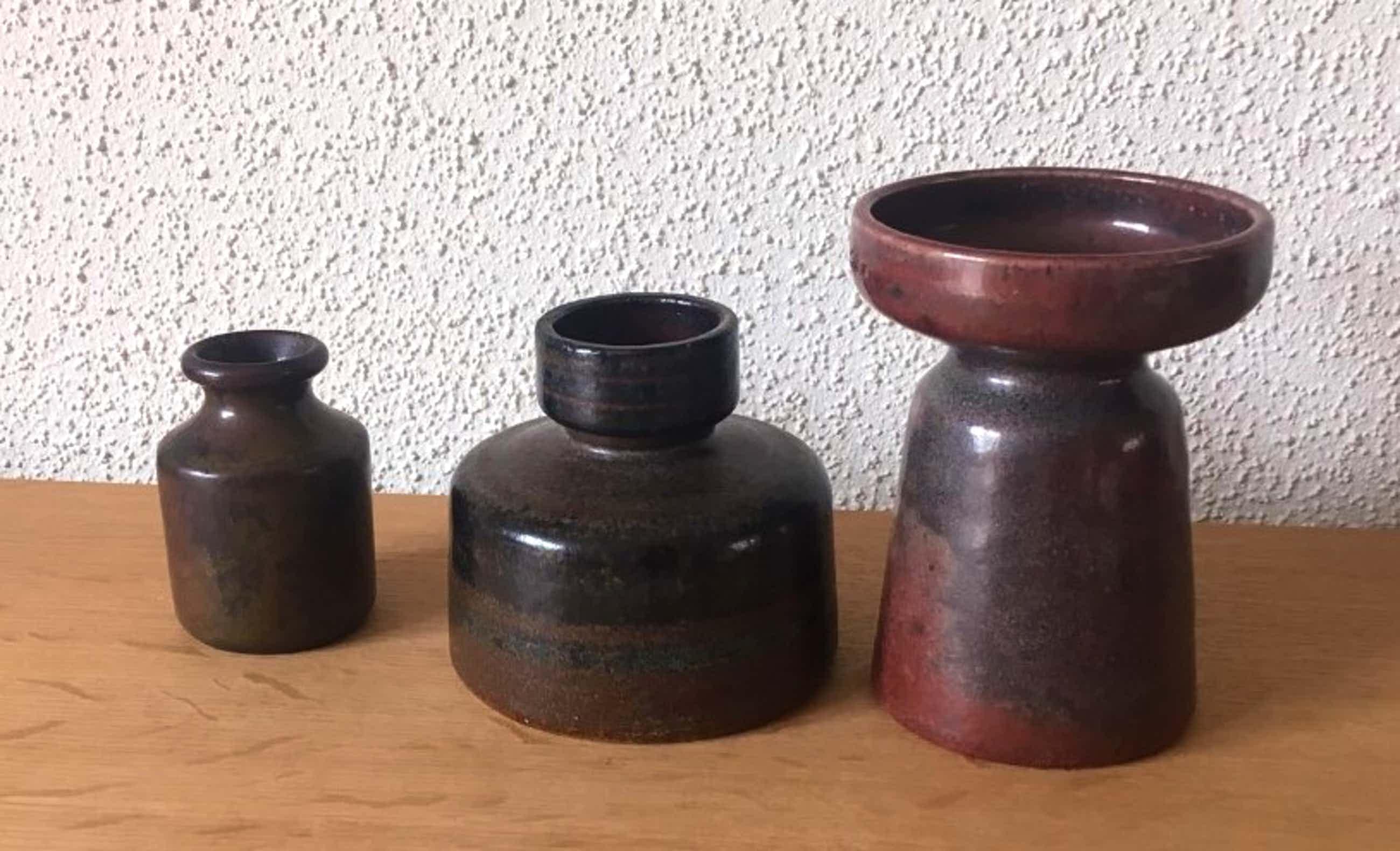 Potterij Zaalberg - Drie vaasjes kopen? Bied vanaf 35!
