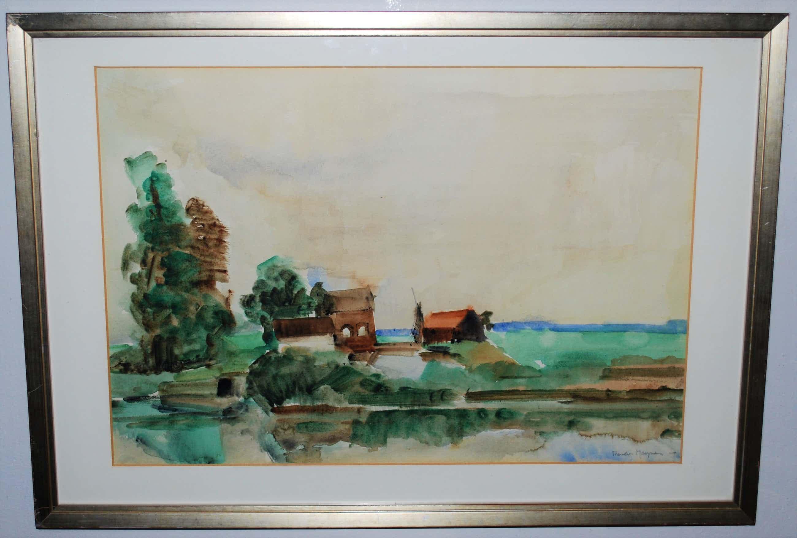 Theodoor Heynes - - Landschap - - ingelijst kopen? Bied vanaf 195!