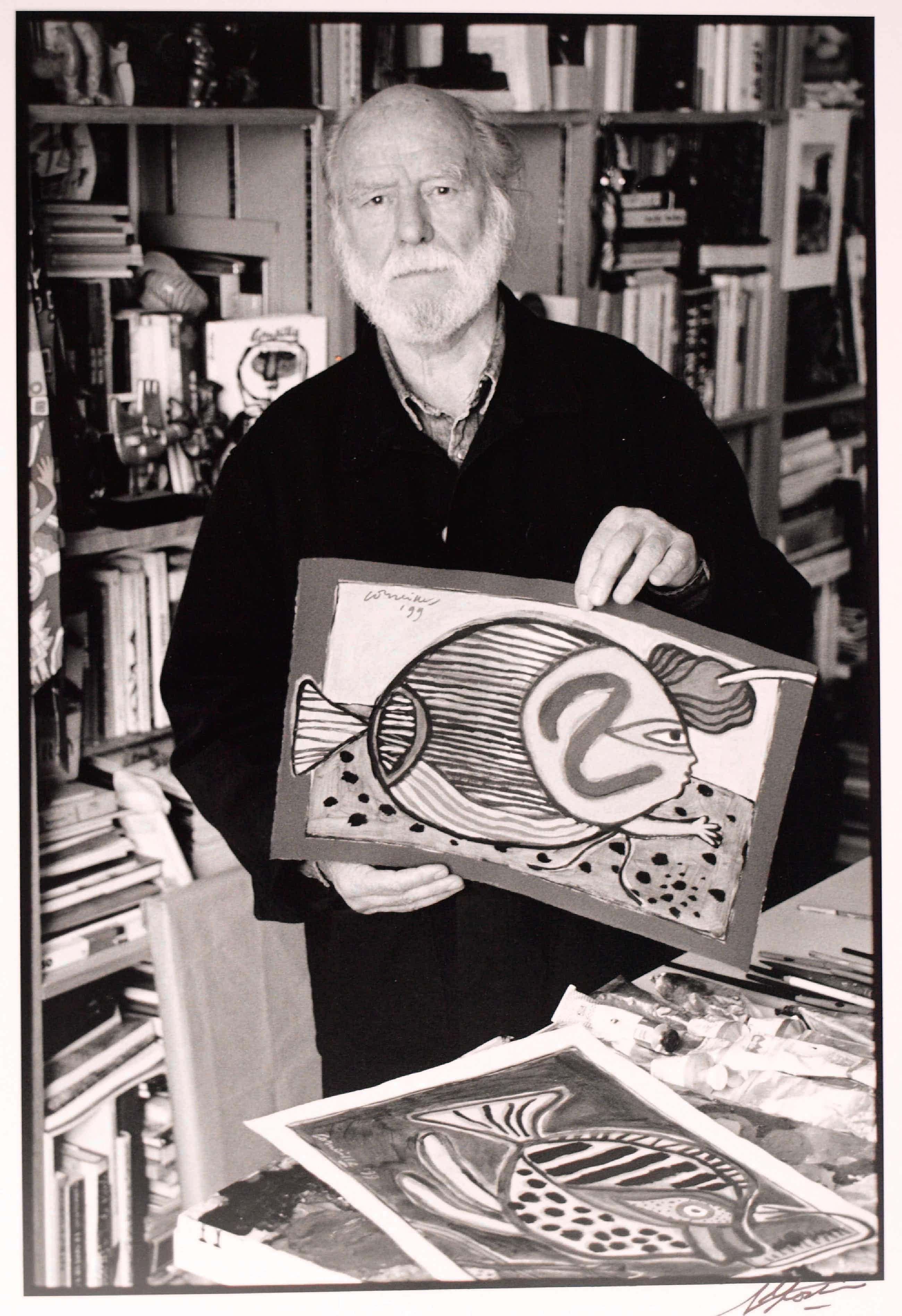 Nico Koster - Corneille in zijn atelier - Foto van Nico Koster - 1999 kopen? Bied vanaf 150!