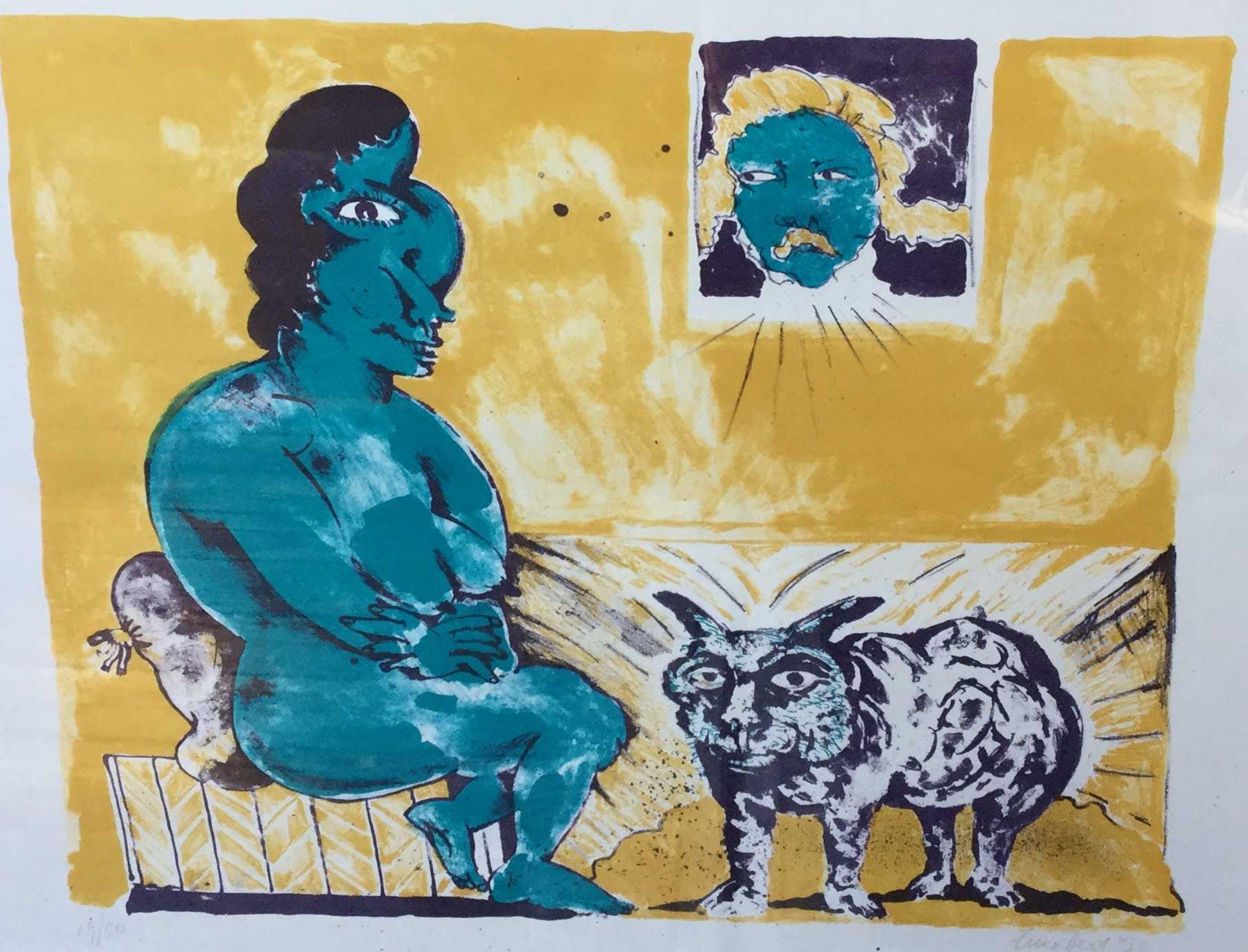 Lucebert - C4767-12, Hoog bezoek, 1973 kopen? Bied vanaf 225!