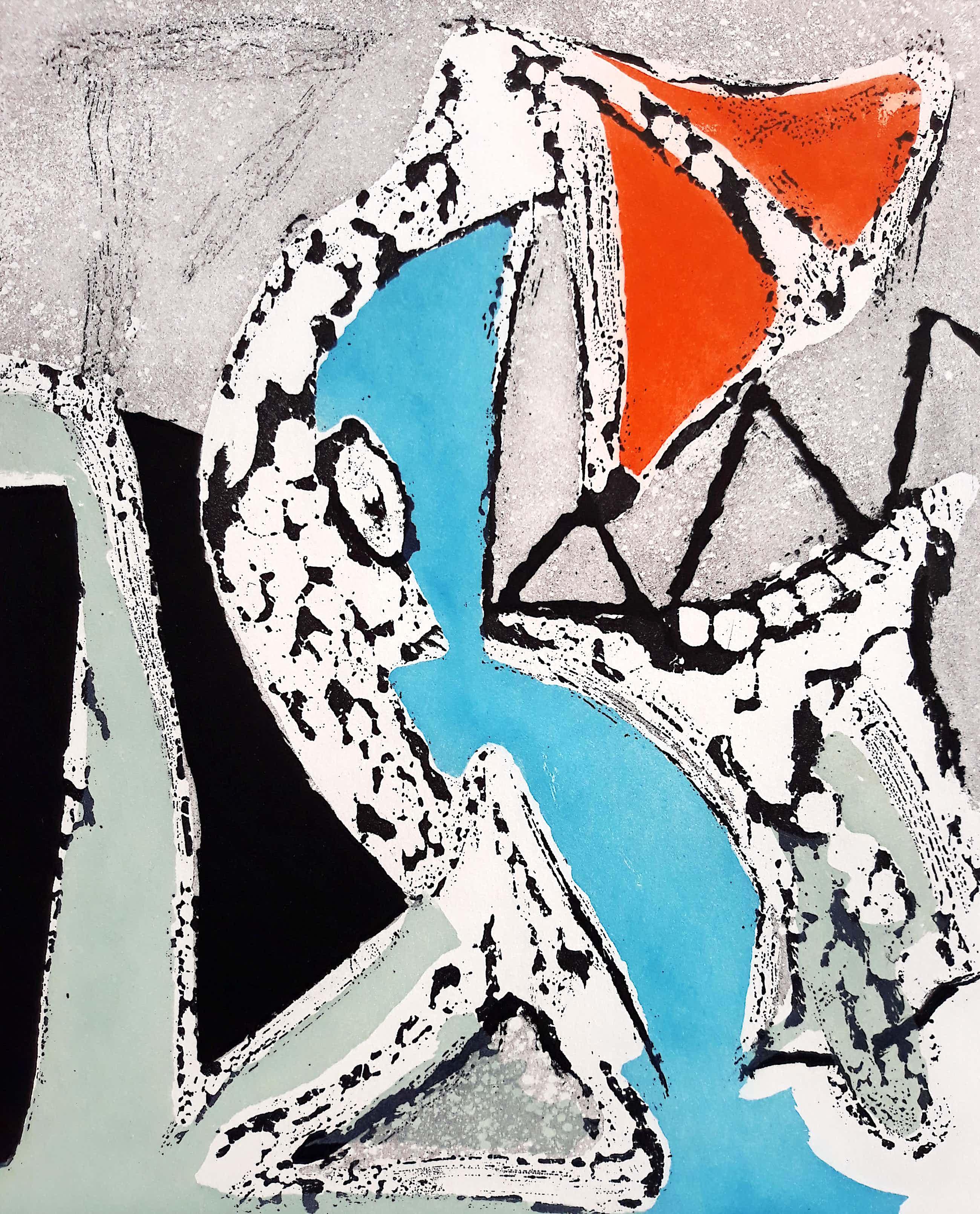 Martin Engelman - Abstracte compositie, aquatint ets kopen? Bied vanaf 60!
