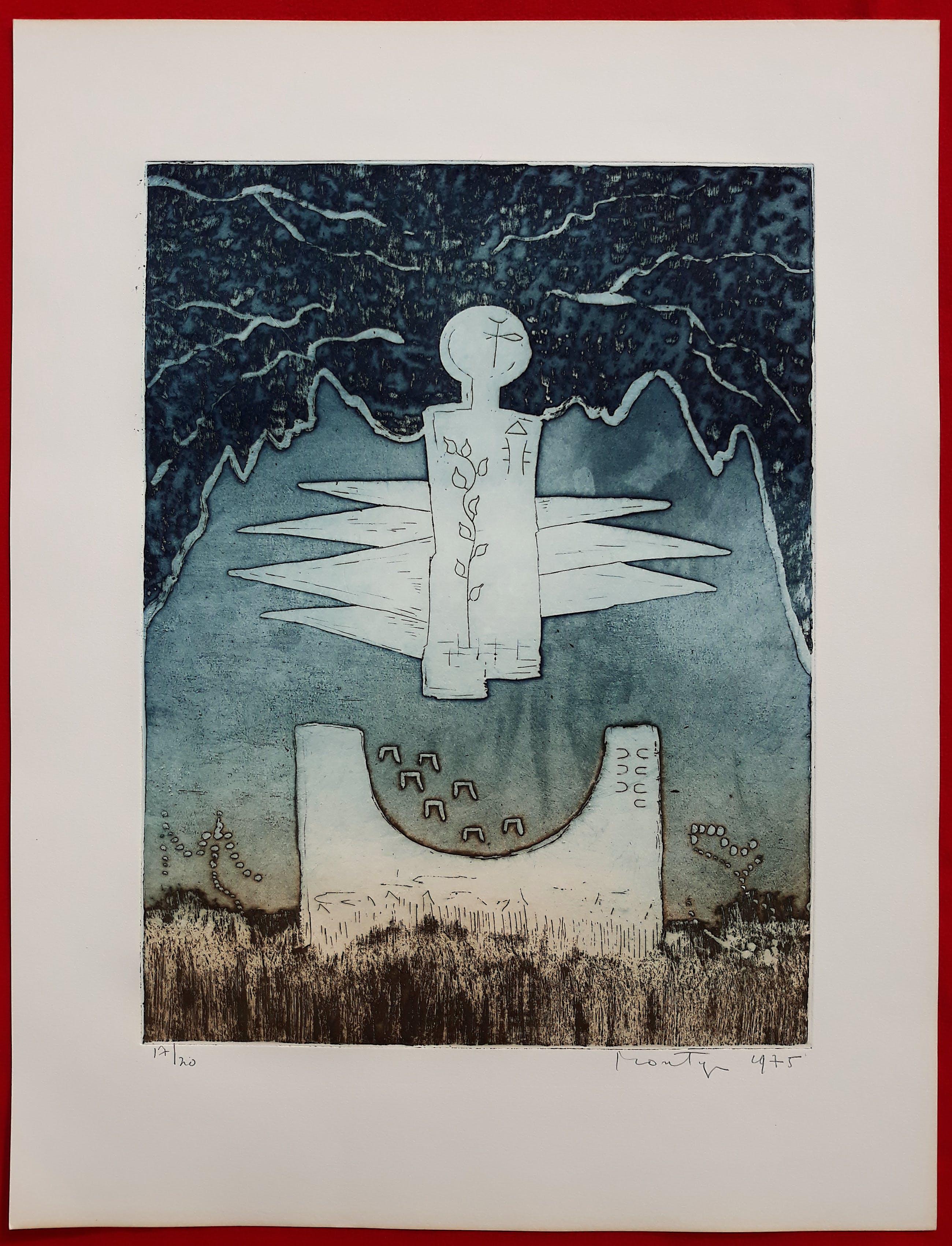 Jan Montyn - Chonyid Bardo - Illusion, aquatint ets (kleine oplage) kopen? Bied vanaf 115!