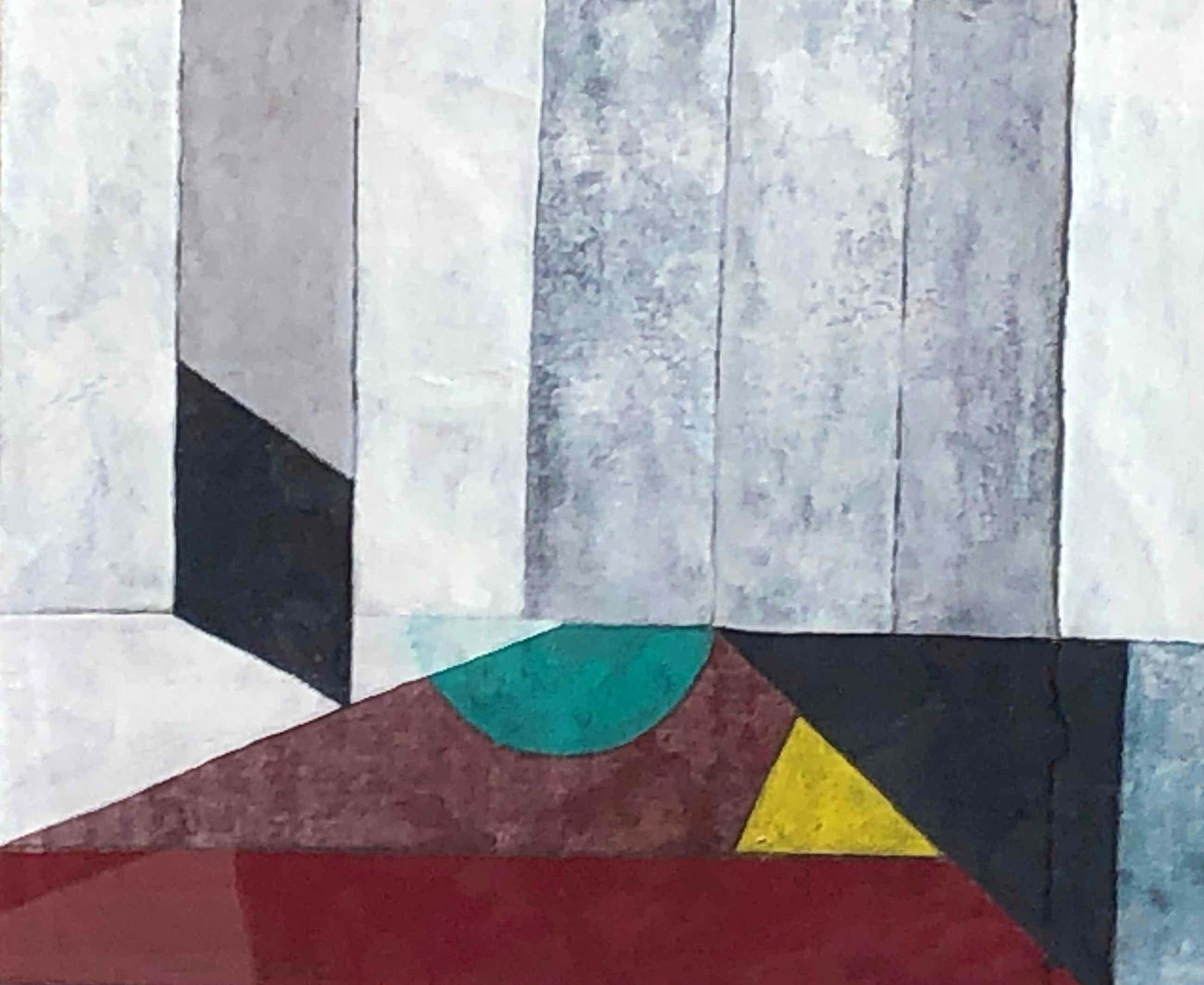 Henri Plaat - Abstracte compositie - met lijst kopen? Bied vanaf 195!