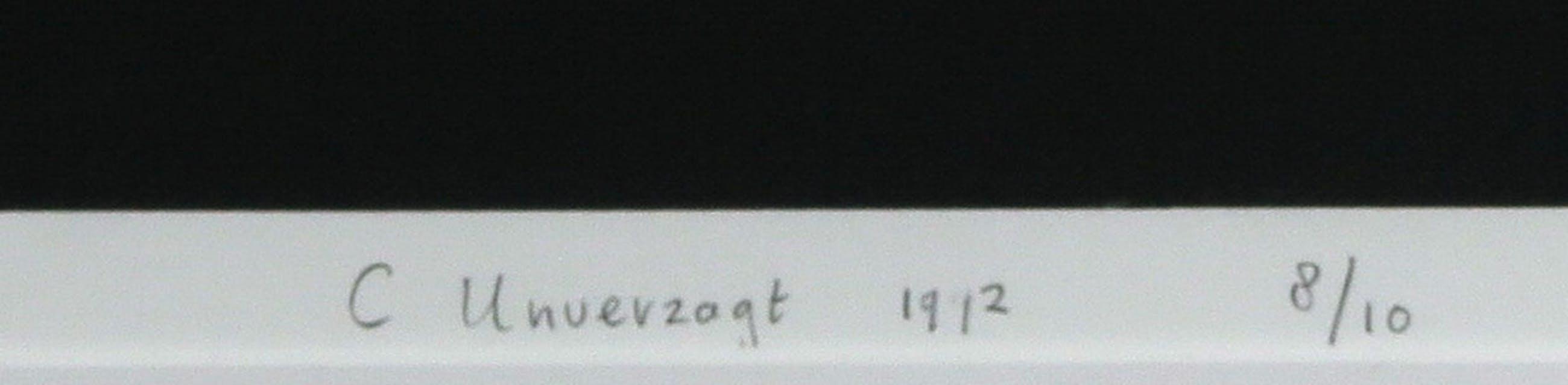 Carin Unverzagt - Linosnede, Zonder titel - Ingelijst (Groot) kopen? Bied vanaf 70!