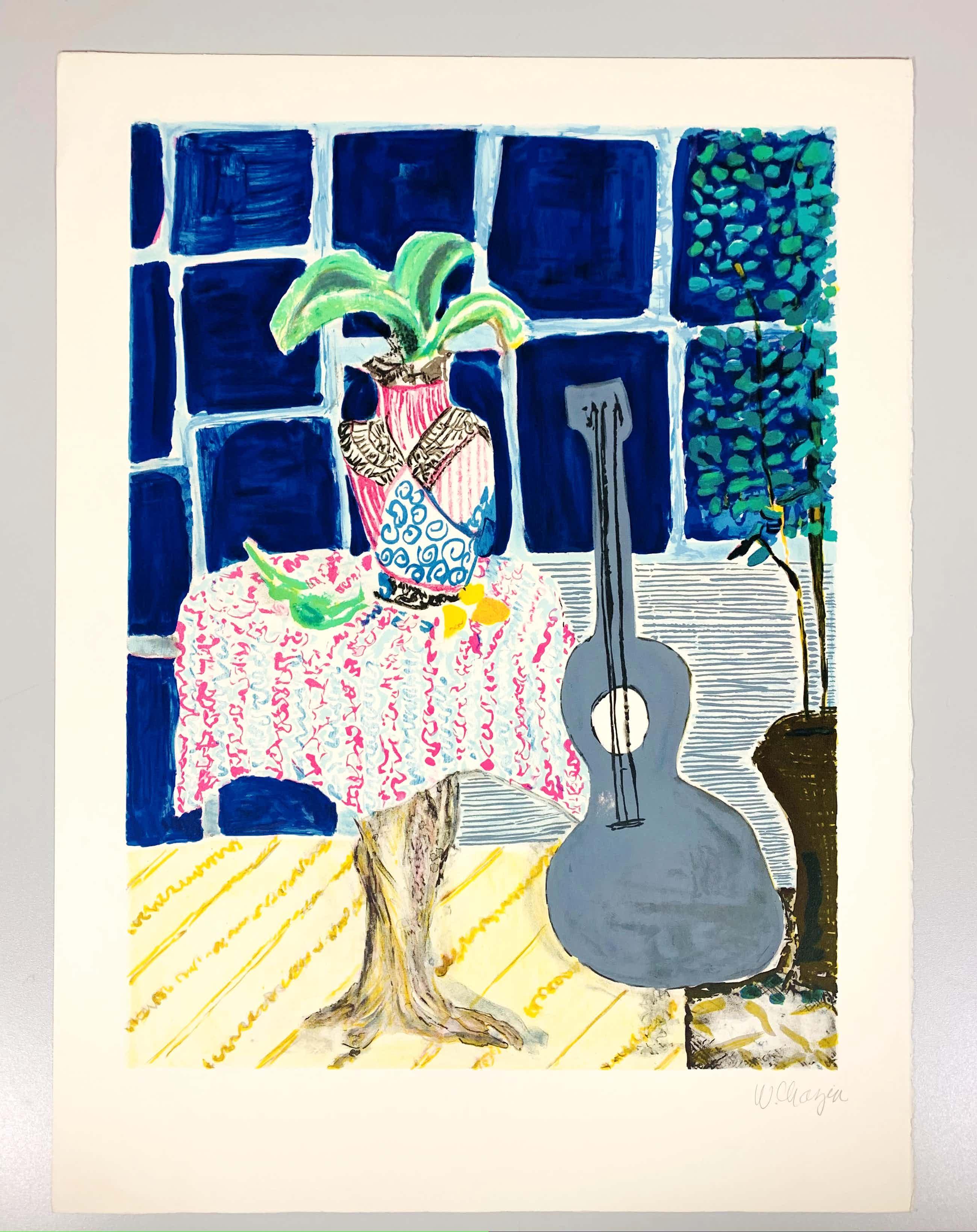 Wendy Chazin - Composition with Guitar and Vase kopen? Bied vanaf 30!