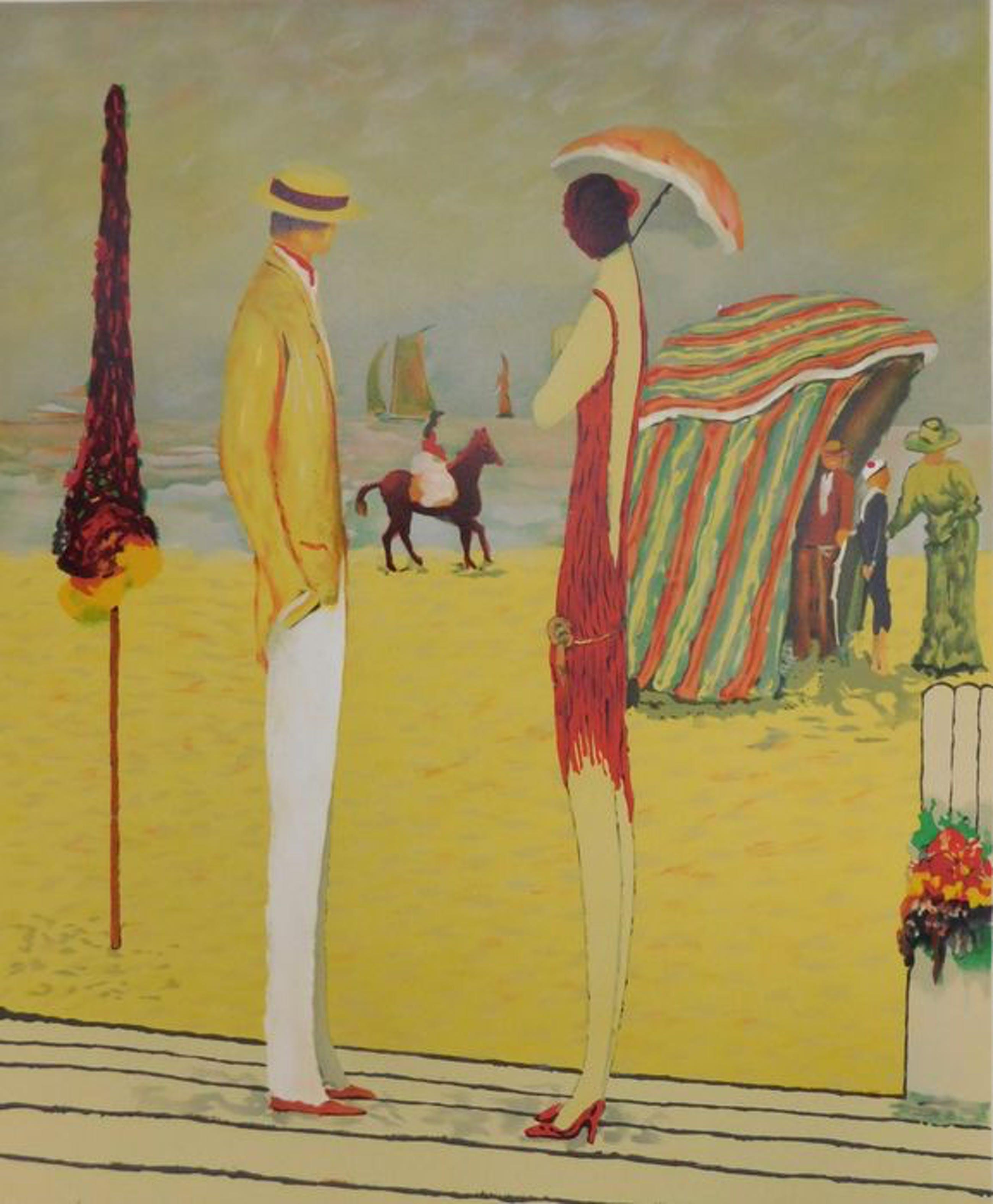 Ramon Dilley - Deauville Beach Elégante - Strandzicht high class kopen? Bied vanaf 39!