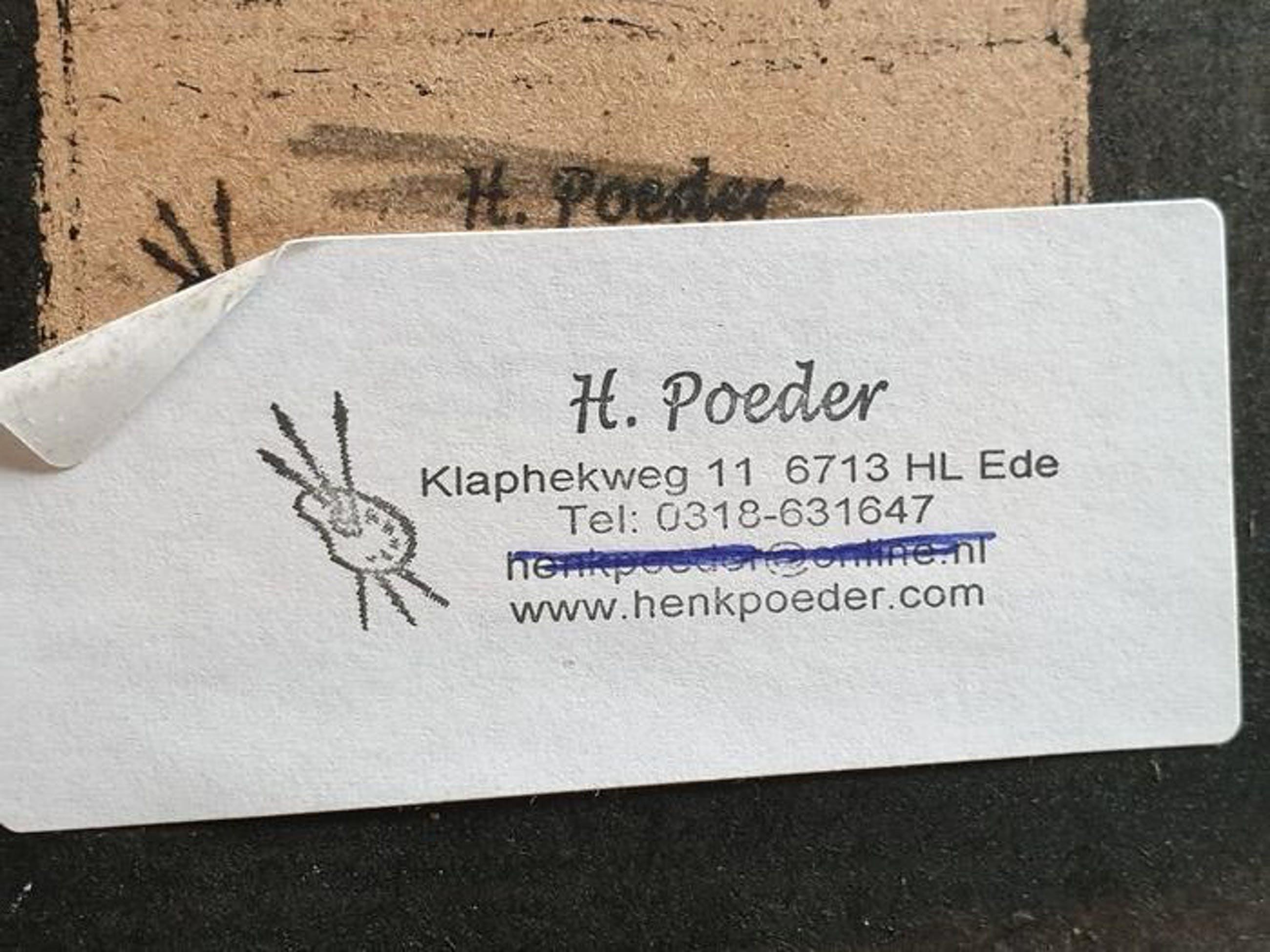 Henk Poeder - Drie kleine vogels in een winterse omgeving kopen? Bied vanaf 30!