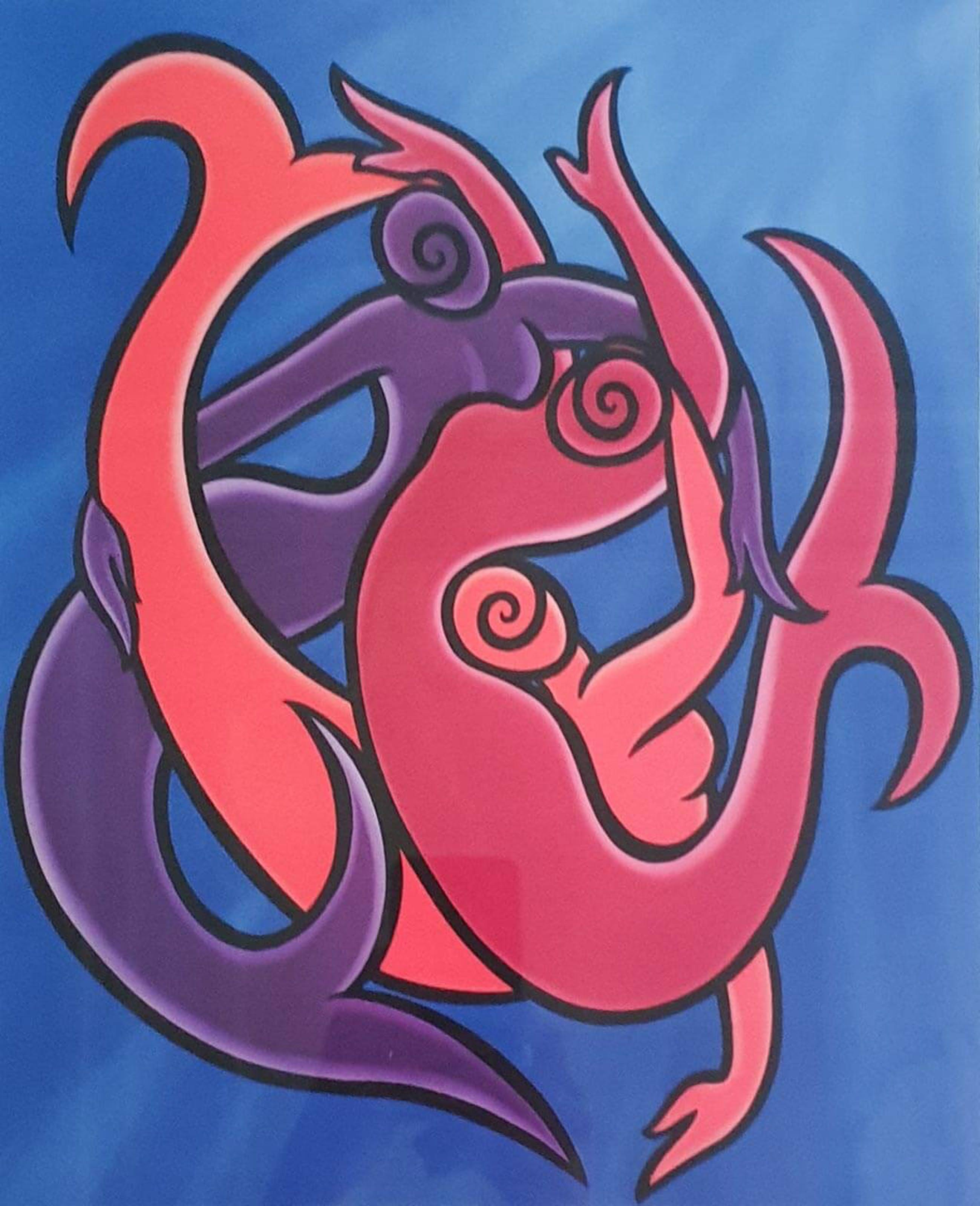 Donna Corbani - Celestial sea | Ingelijst kopen? Bied vanaf 45!