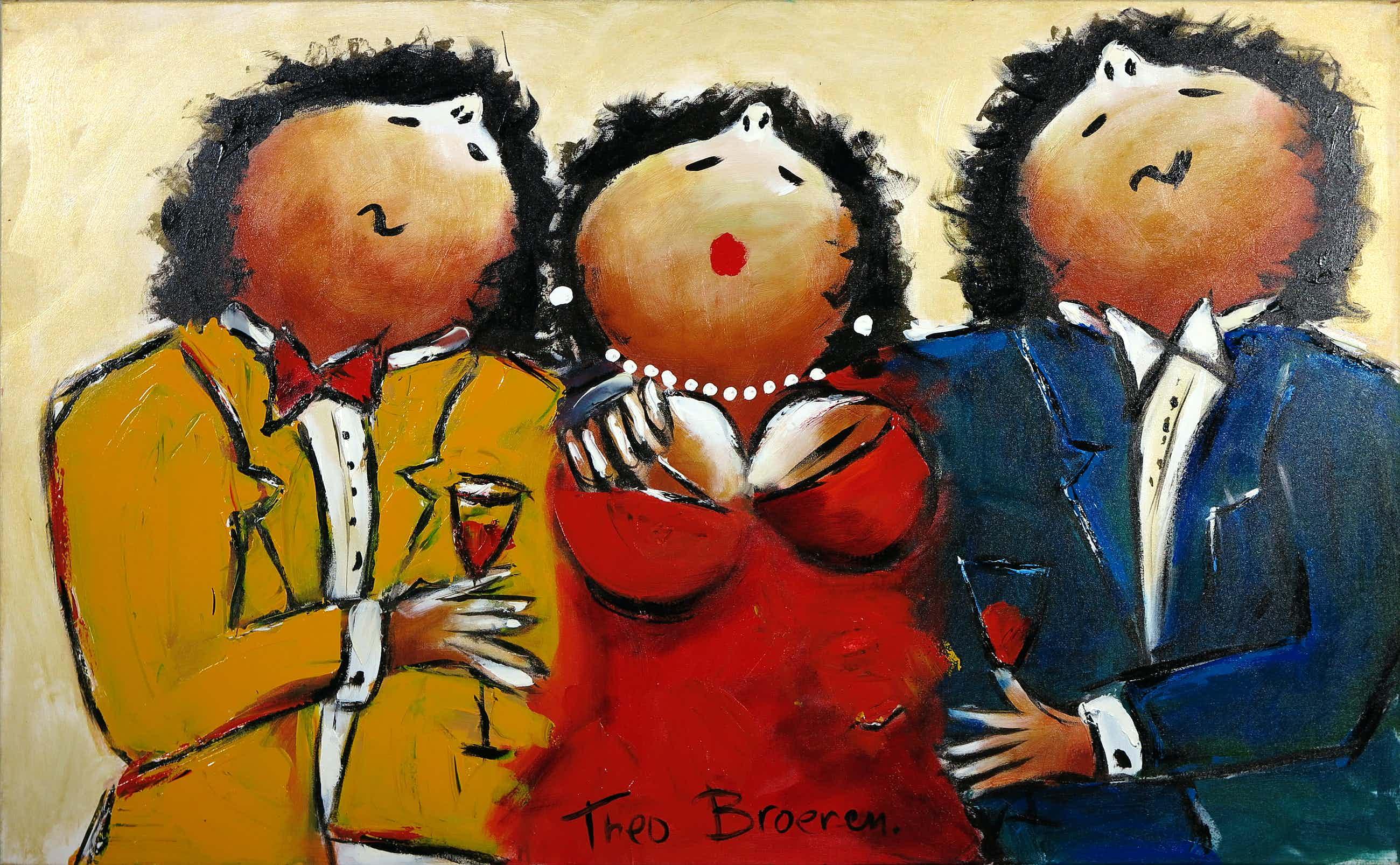 Theo Broeren - Acryl op doek, Hard to chose (Zeer Groot) kopen? Bied vanaf 110!