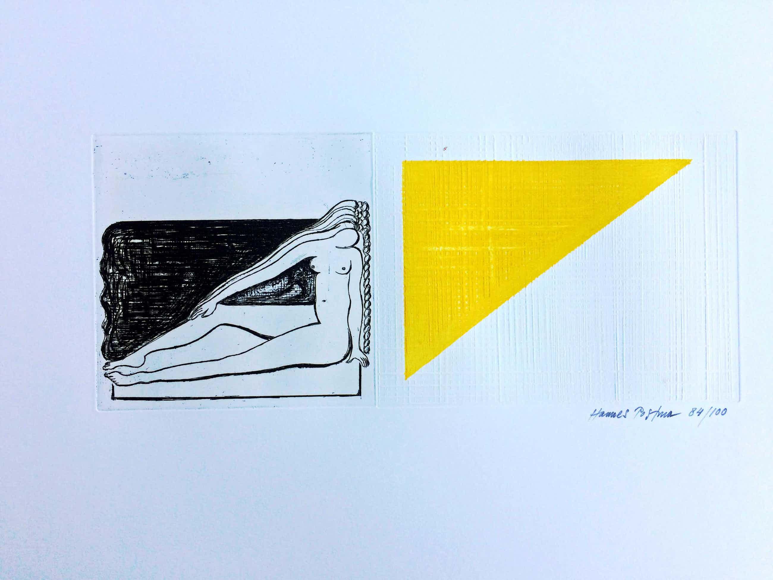 Hannes Postma - Erotische driehoek - ets kopen? Bied vanaf 55!