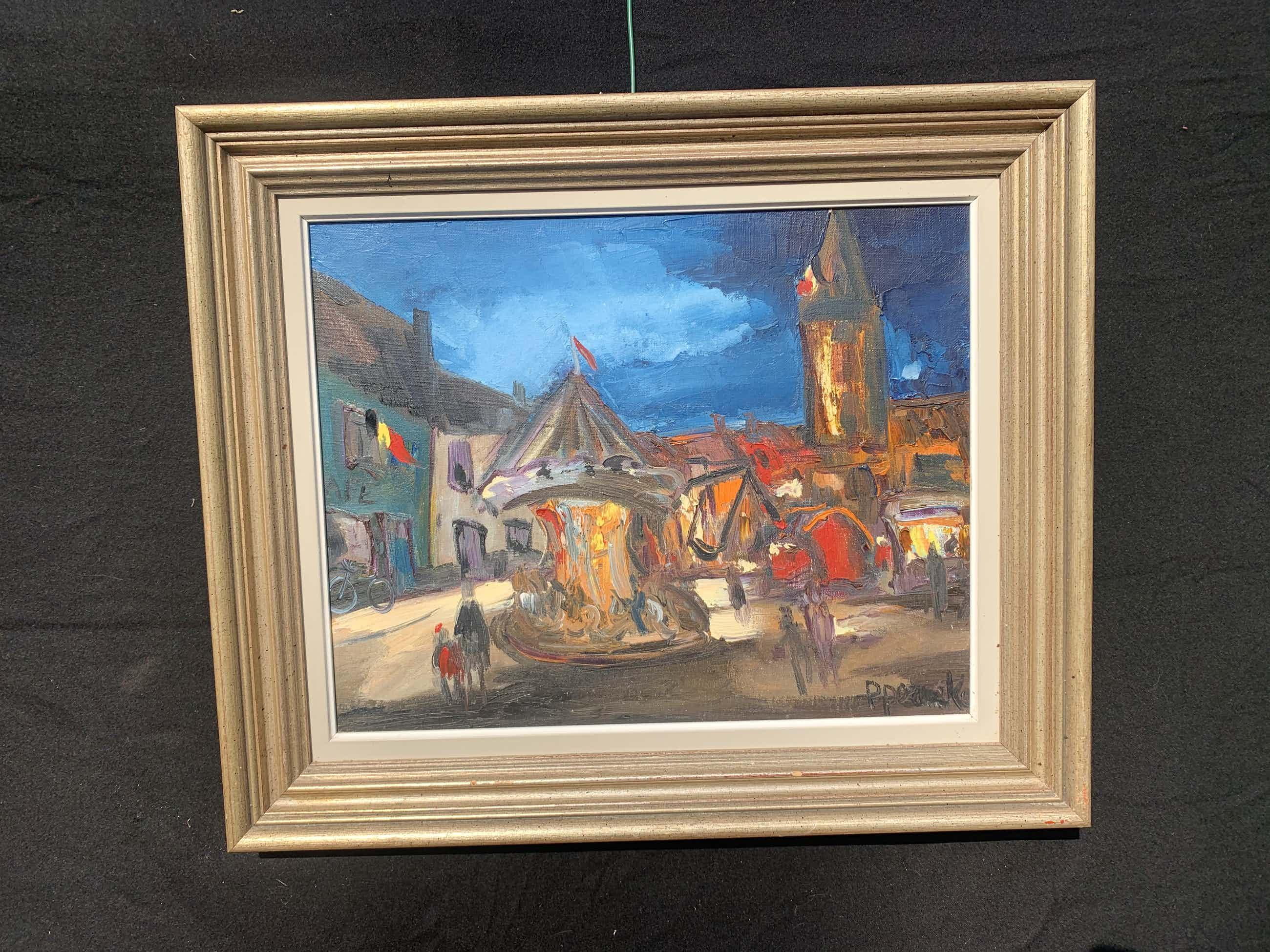 Paul Permeke - Olieverf schilderij: kermis in het dorp kopen? Bied vanaf 702!