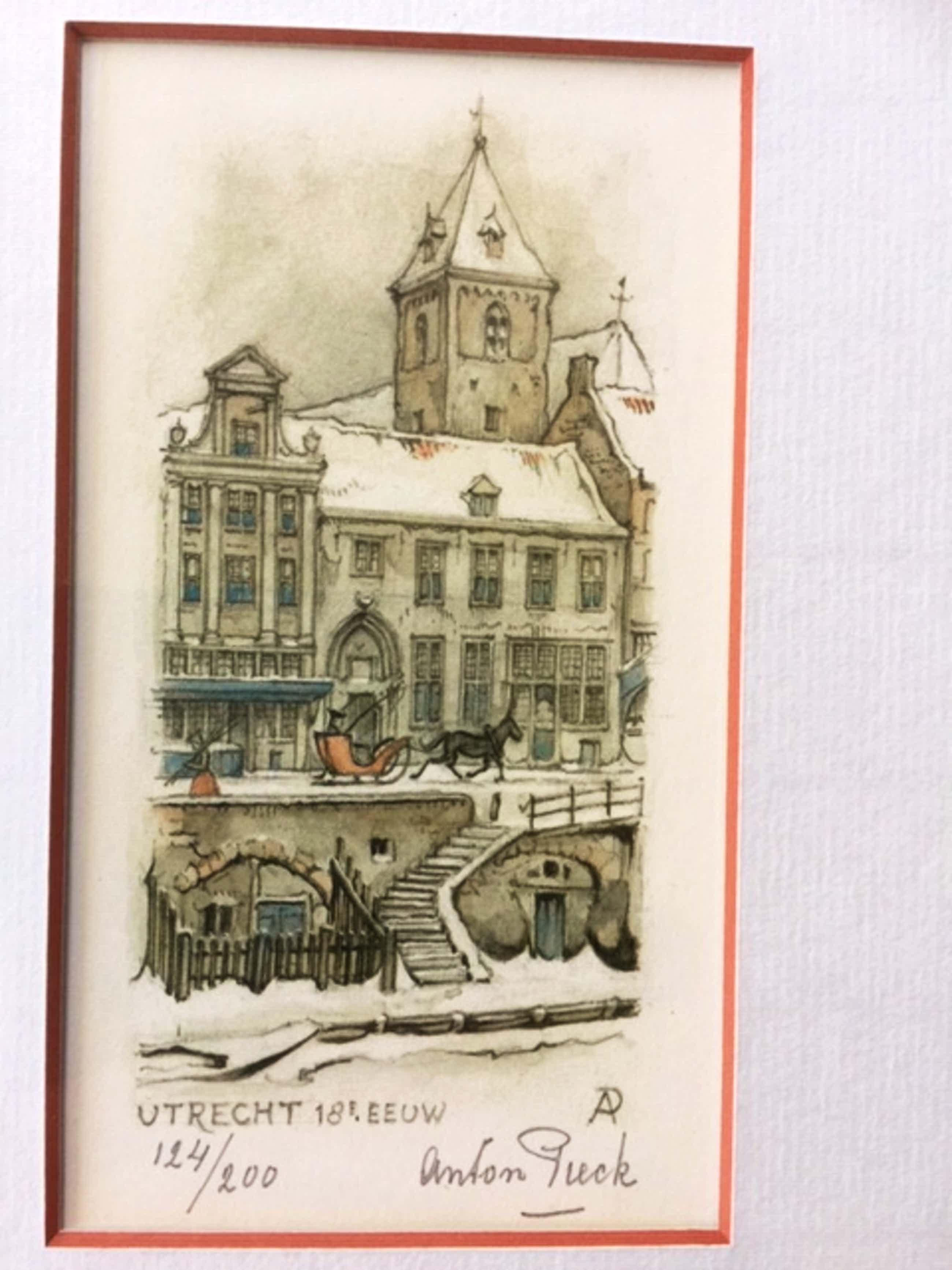 Anton Pieck - Utrecht 18e eeuw kopen? Bied vanaf 72!