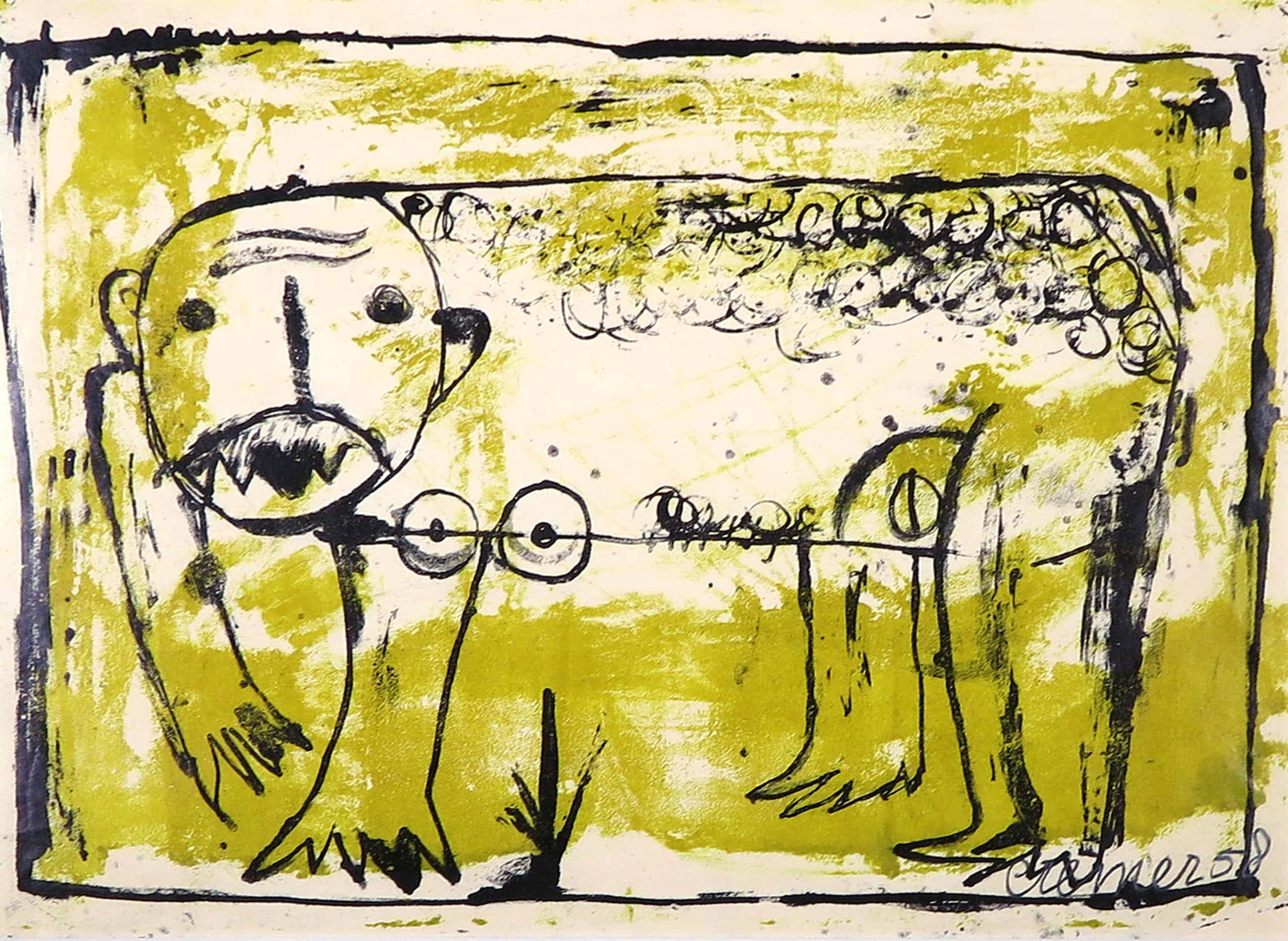 Jan Cremer - Litho, Beest uit 1956 (zeer zeldzaam/vroeg) kopen? Bied vanaf 450!