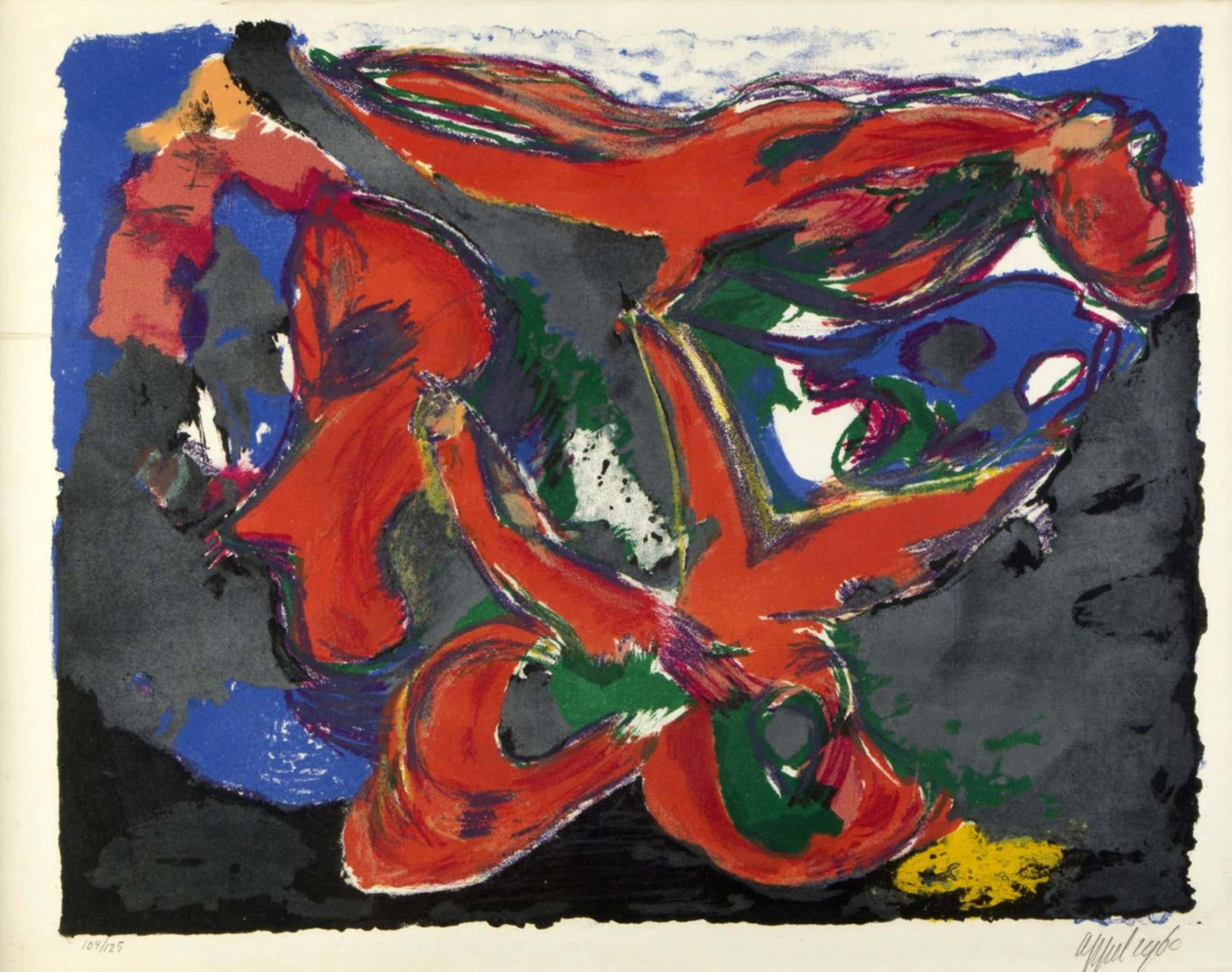 """Karel Appel - """"Faune nocturne"""" - litho uit 1960 kopen? Bied vanaf 700!"""
