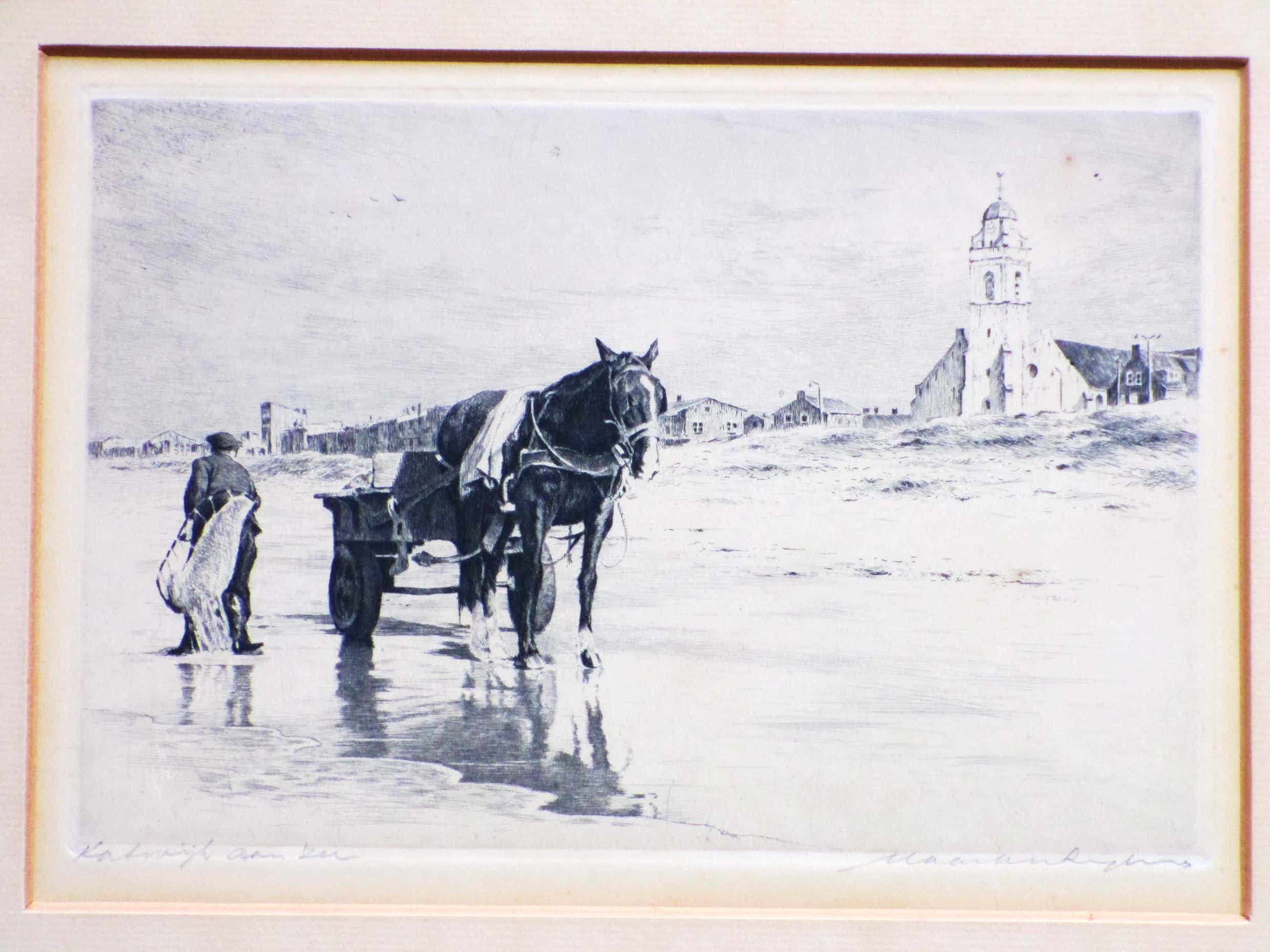 Maarten Langbroek - Katwijk aan Zee - Ets kopen? Bied vanaf 45!