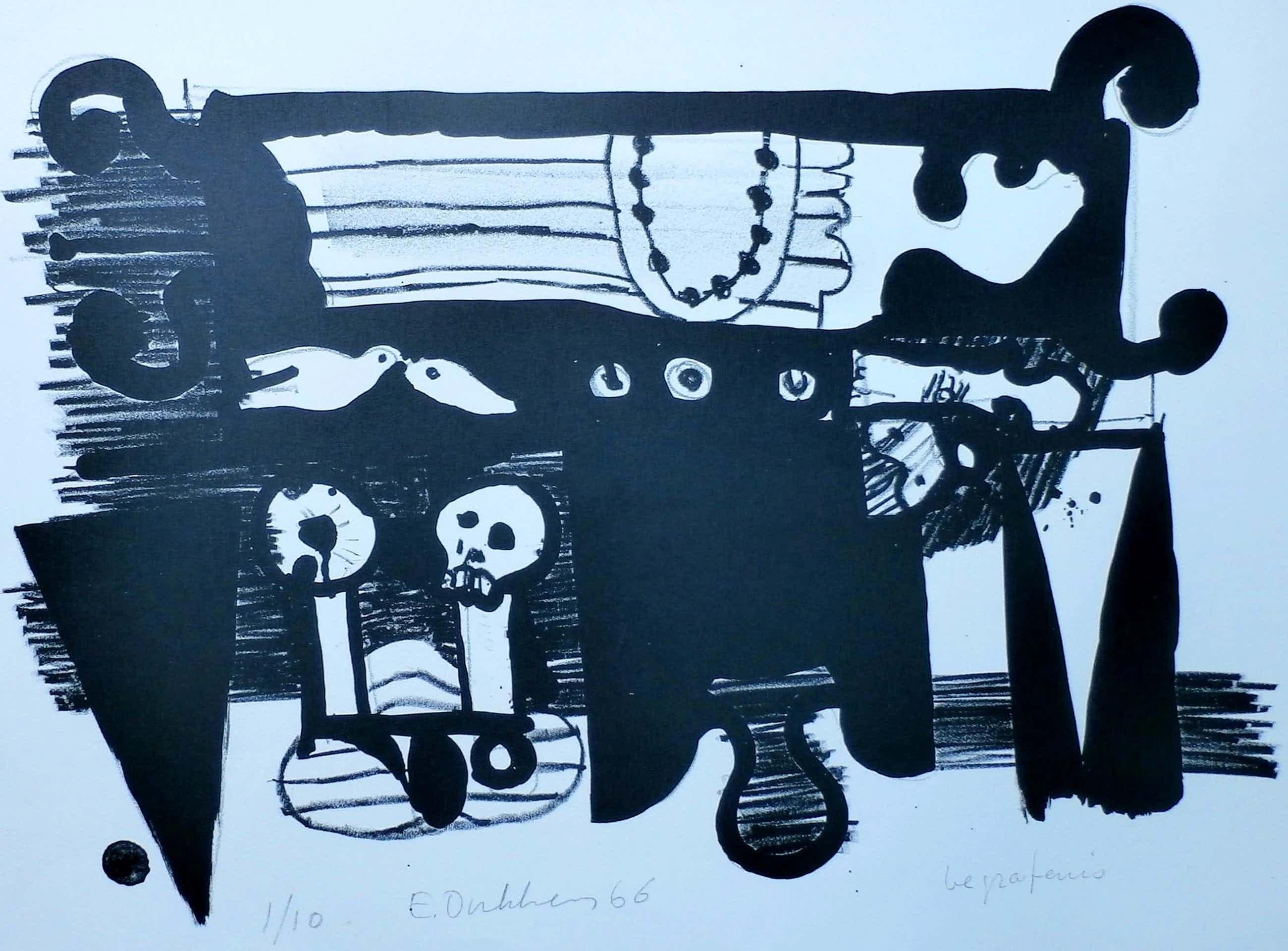 Ed Dukkers - Litho: Begrafenis - 1966 kopen? Bied vanaf 40!