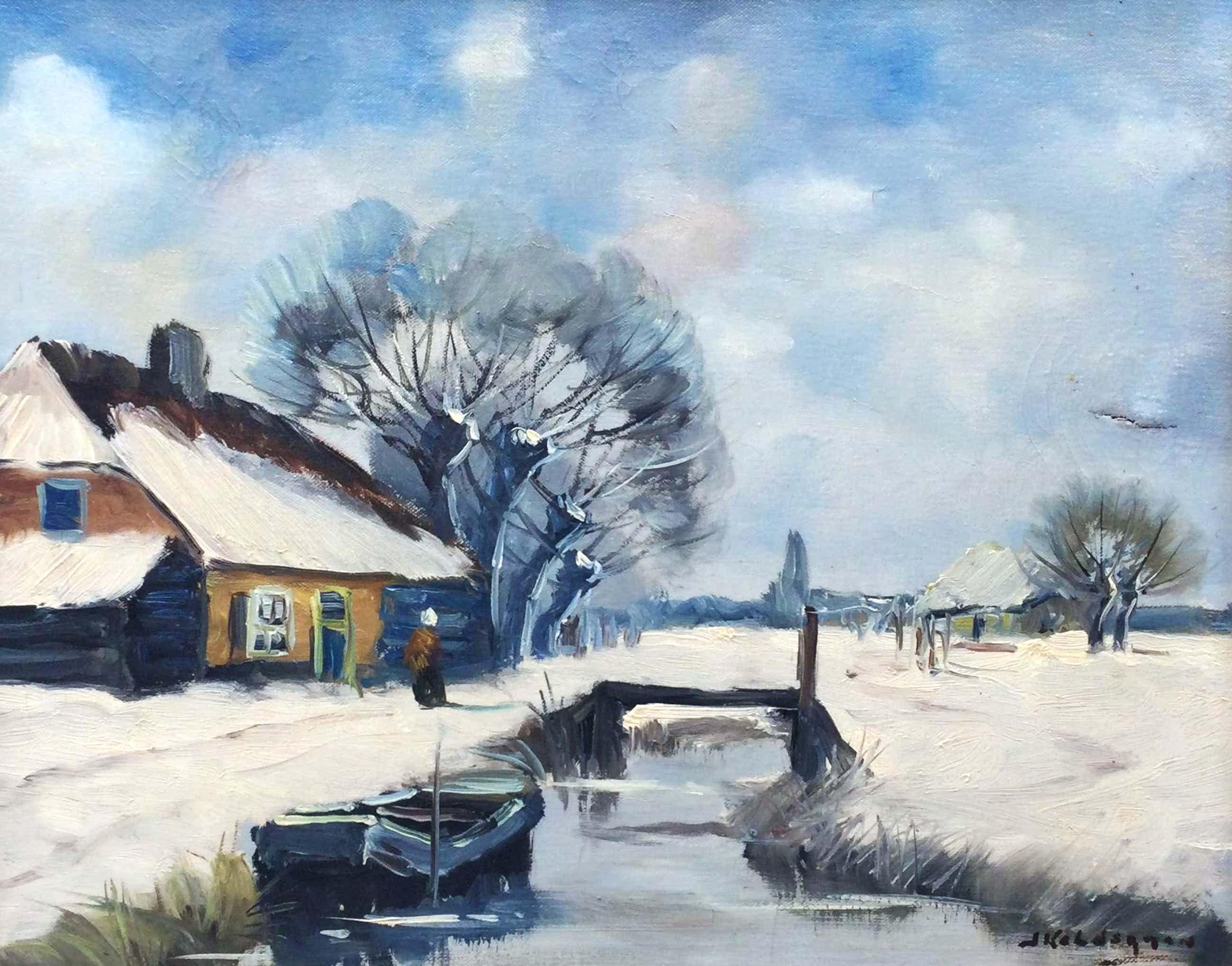 Jan Kelderman - C5164-3, Winter op de boerderij kopen? Bied vanaf 95!