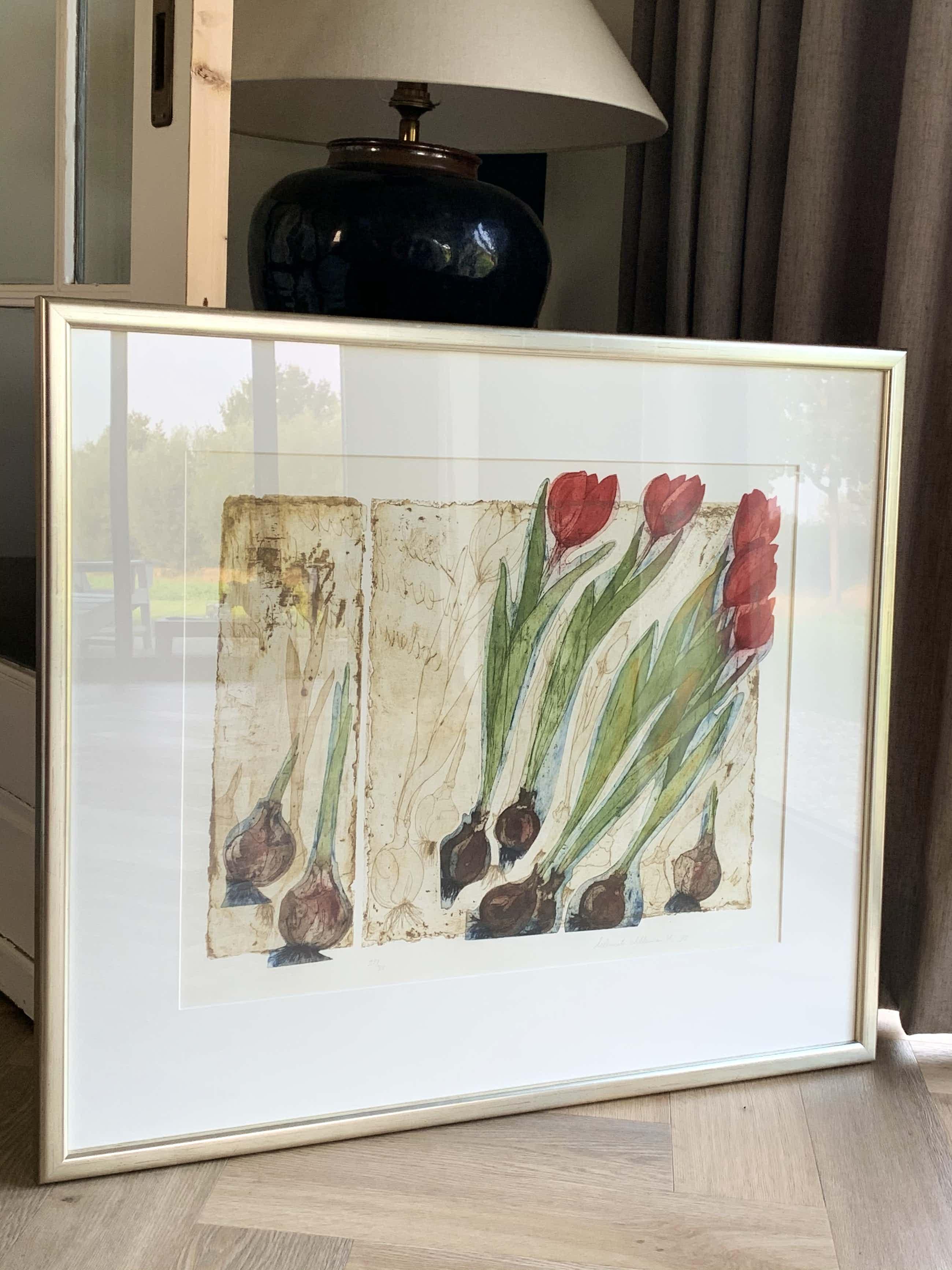 Willemien Holterman - Prachtige zeefdruk, kleine oplage, dure lijst kopen? Bied vanaf 50!