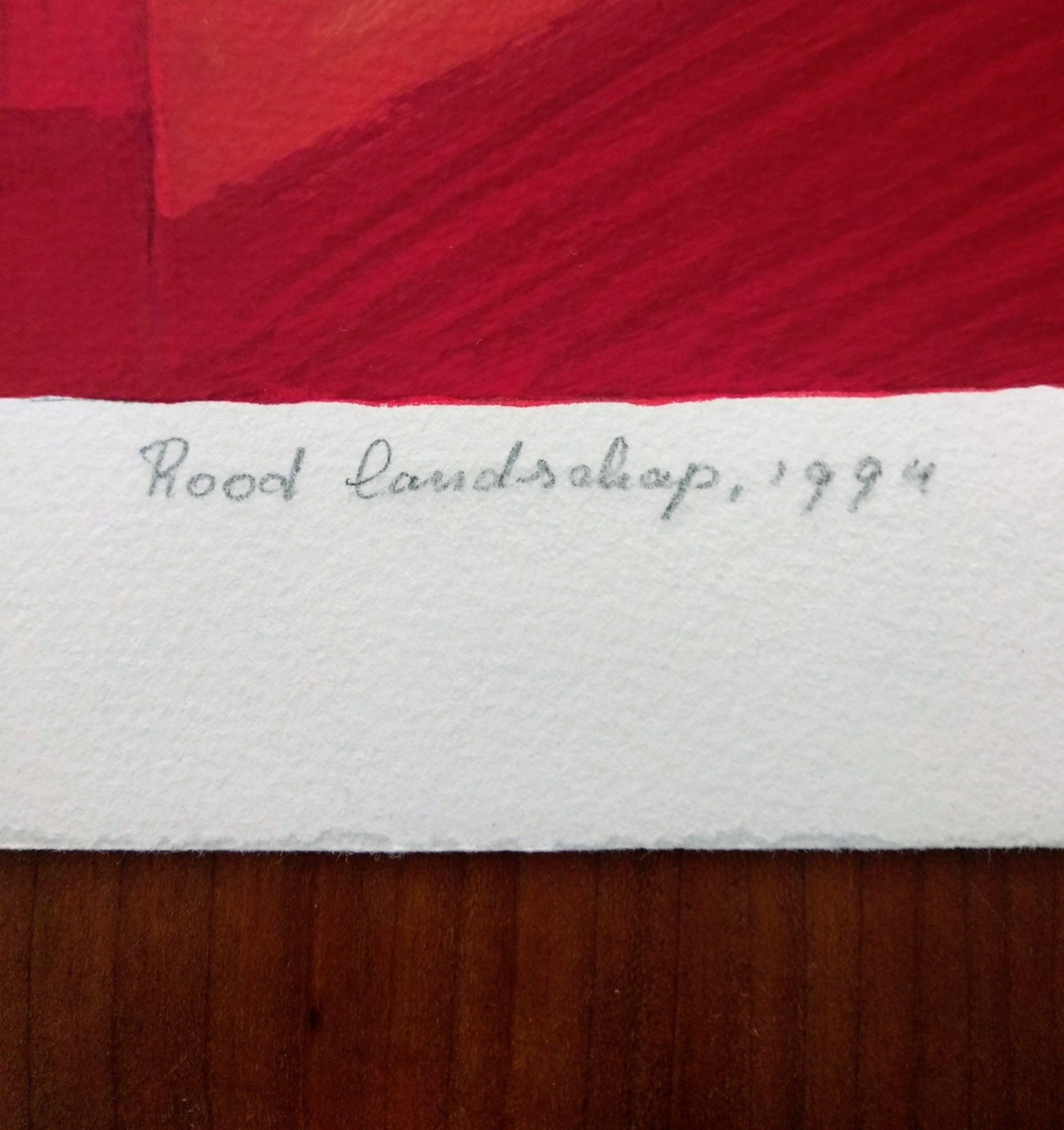 Ton Schulten - Rood landschap, 1994 kopen? Bied vanaf 375!